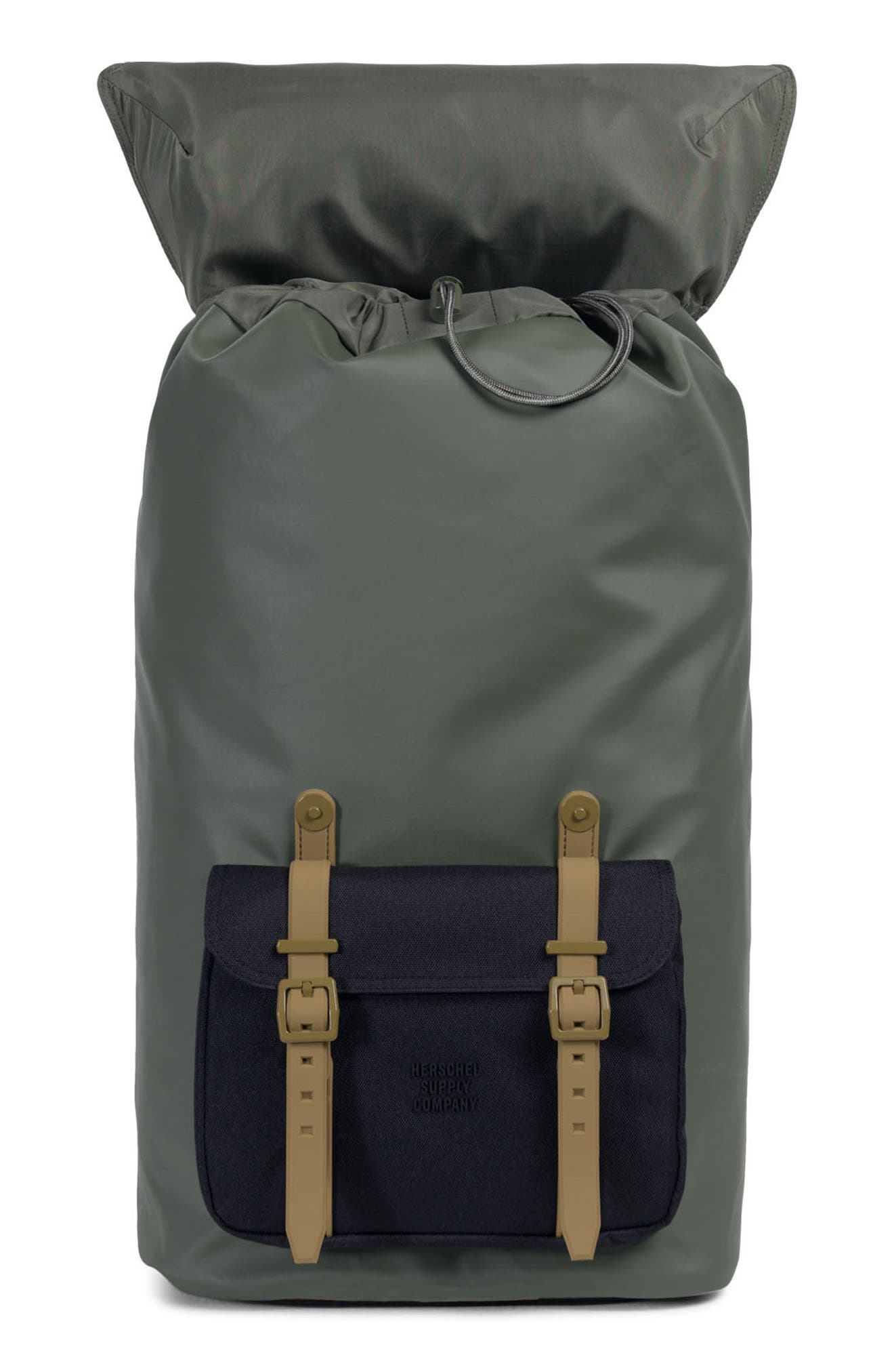 Little America Studio Collection Backpack,                             Alternate thumbnail 3, color,                             Beetle/ Black/ Gothic Olive