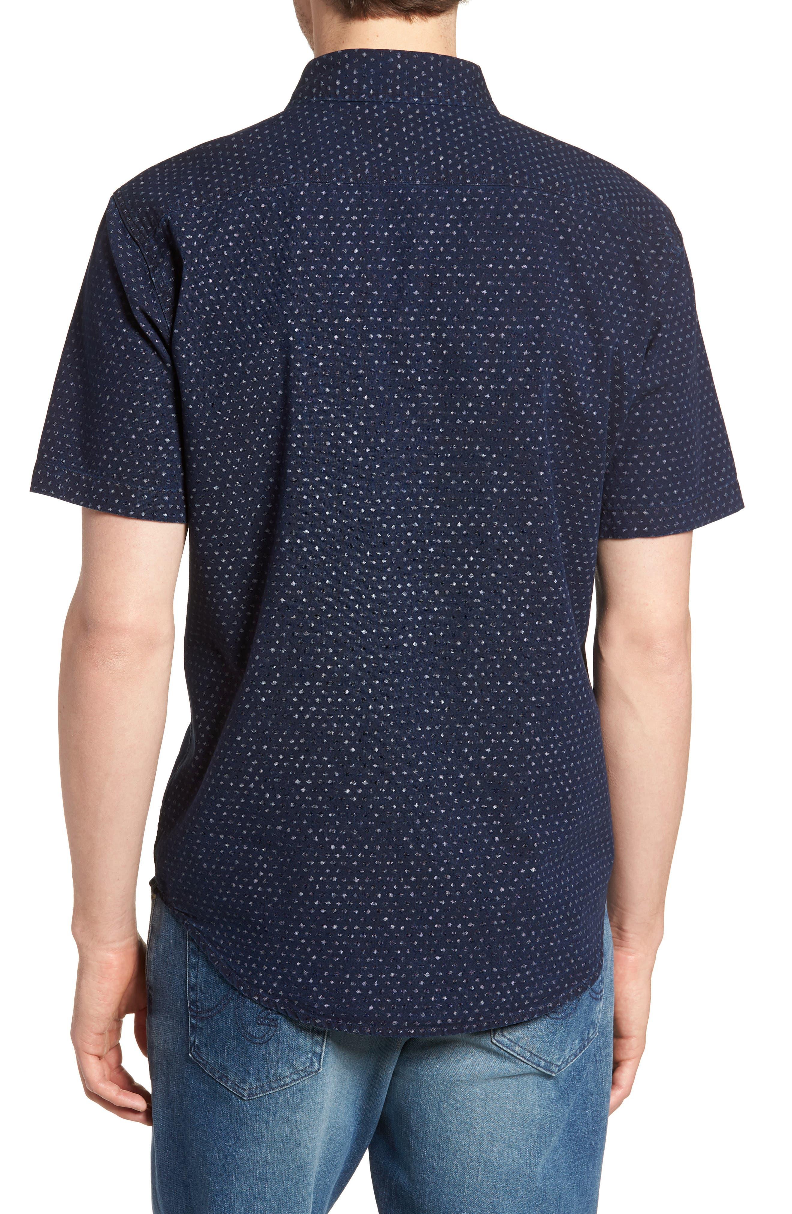 Coast Sport Shirt,                             Alternate thumbnail 3, color,                             Indigo Fleck