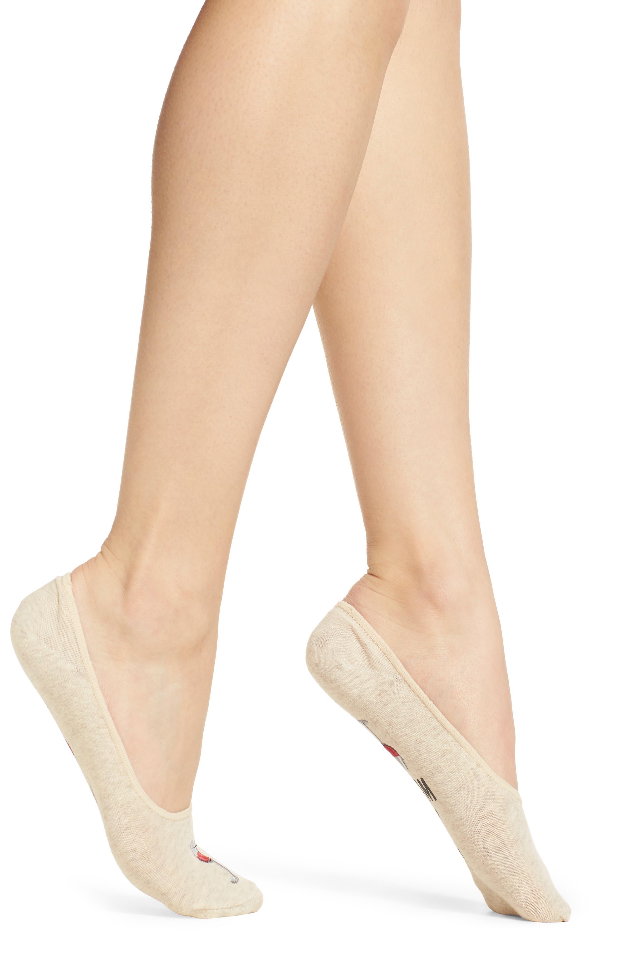 Rise & Wine No-Show Socks,                         Main,                         color, Natural Melange