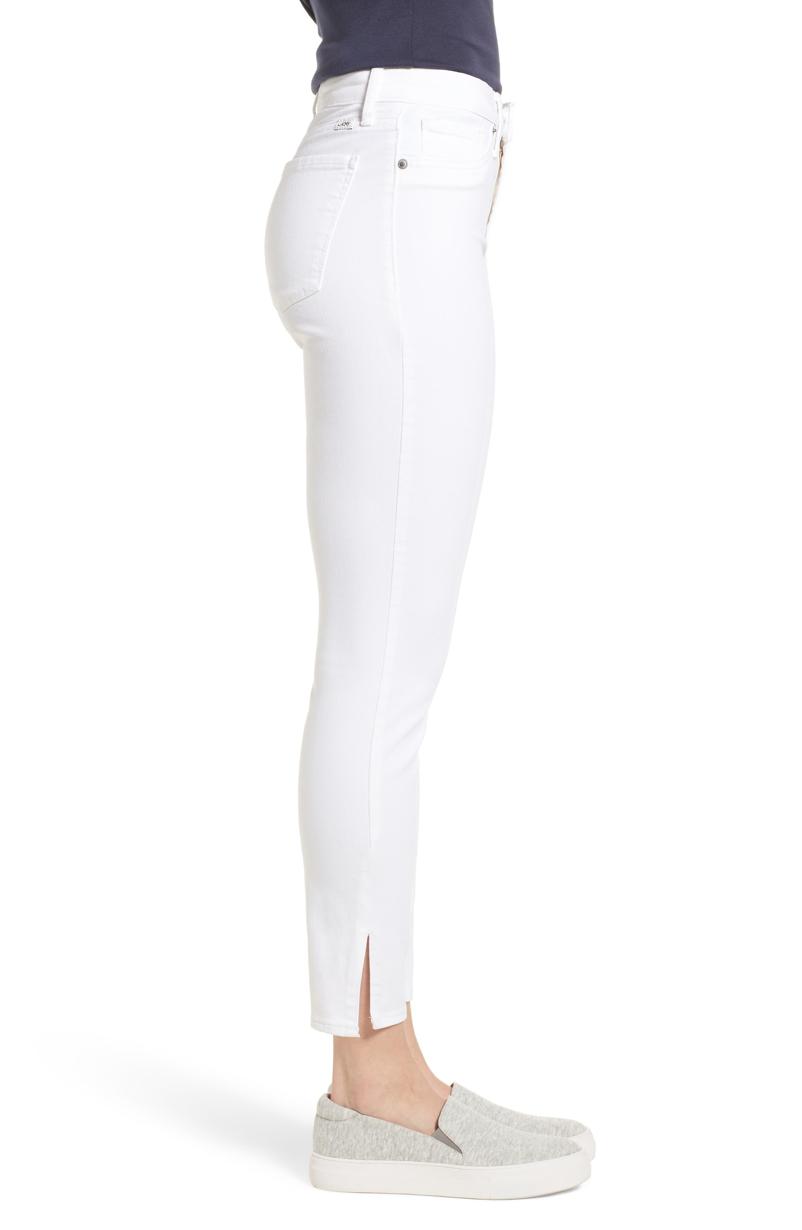 Ava Skinny White Jeans,                             Alternate thumbnail 3, color,                             Clean White