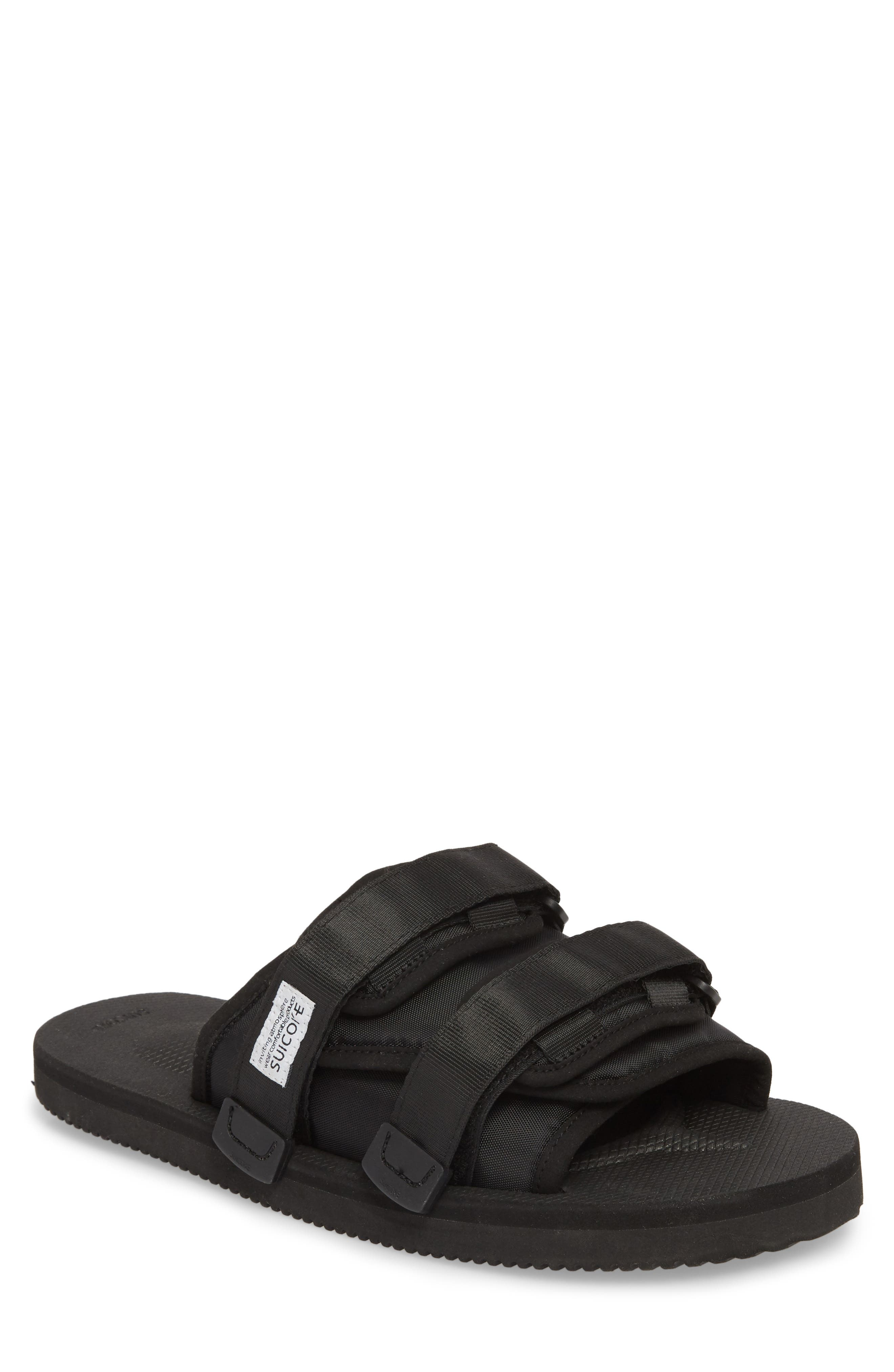 Moto Cab Slide Sandal,                             Main thumbnail 1, color,                             Black