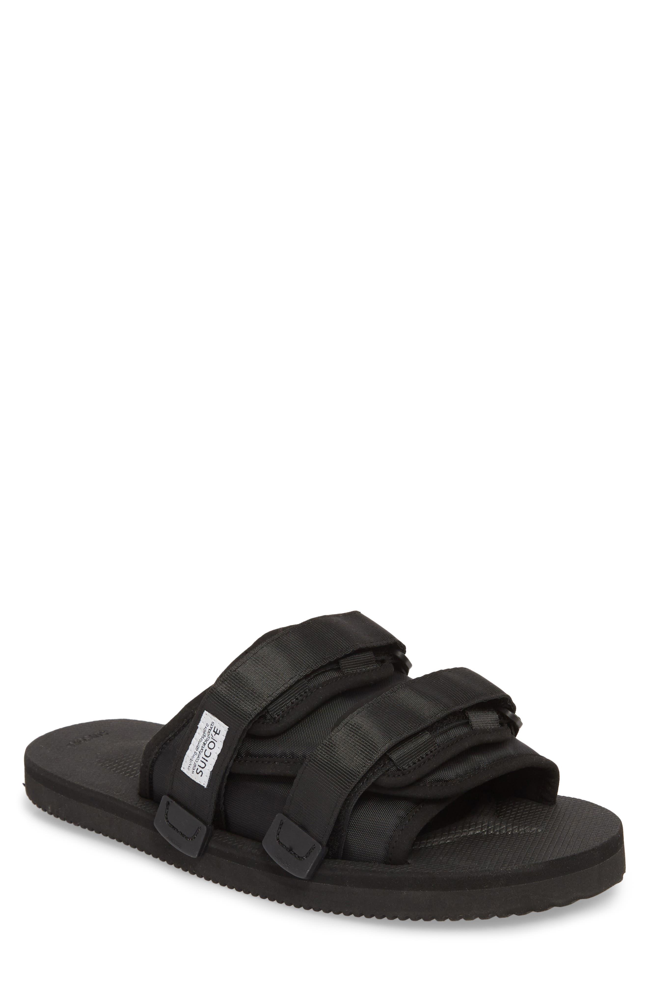Moto Cab Slide Sandal,                         Main,                         color, Black