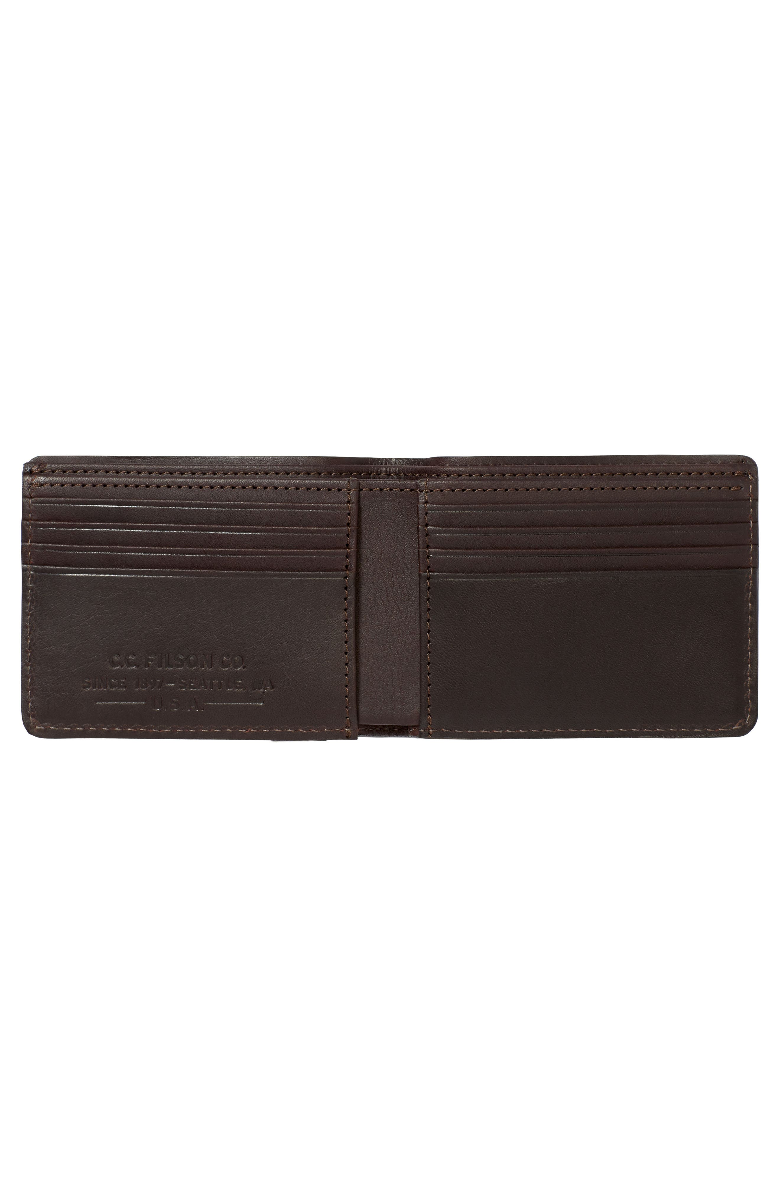 Alternate Image 2  - Filsone Outfitter Leather & Canvas Bifold Wallet