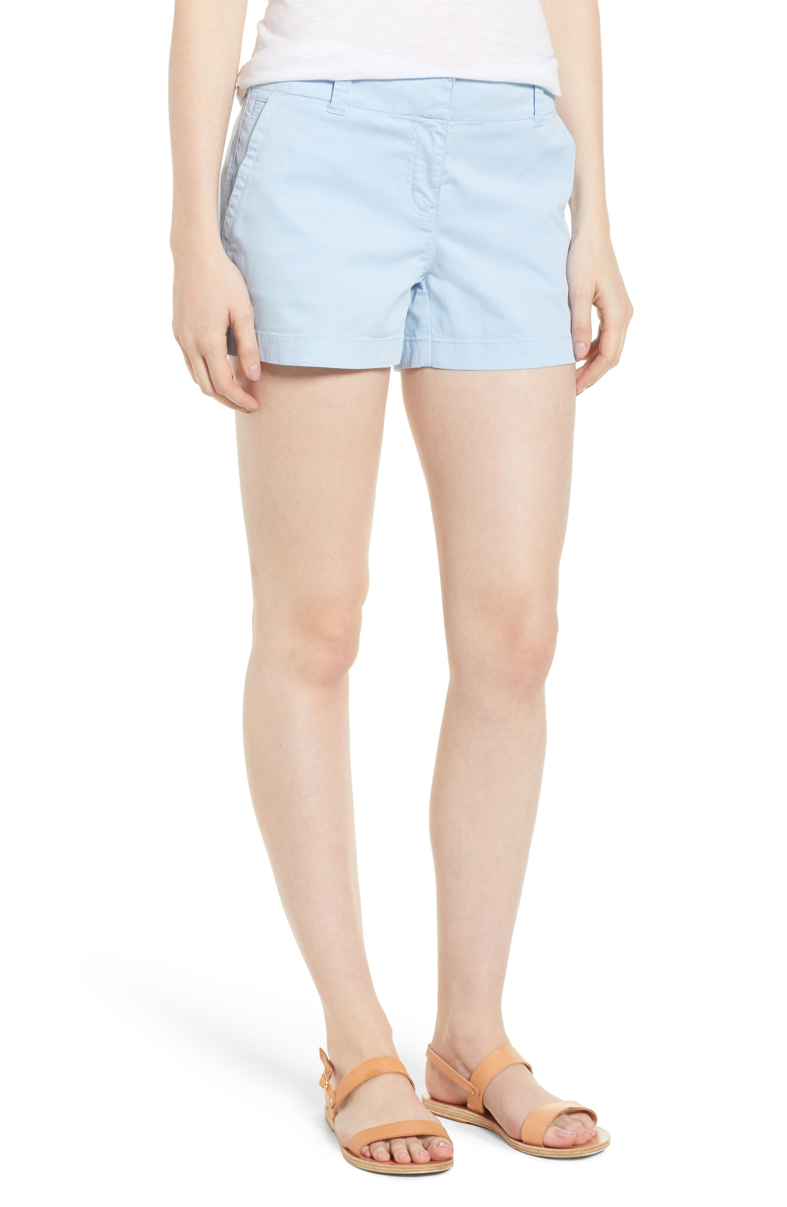 Everyday Stretch Cotton Shorts,                         Main,                         color, Jake Blue