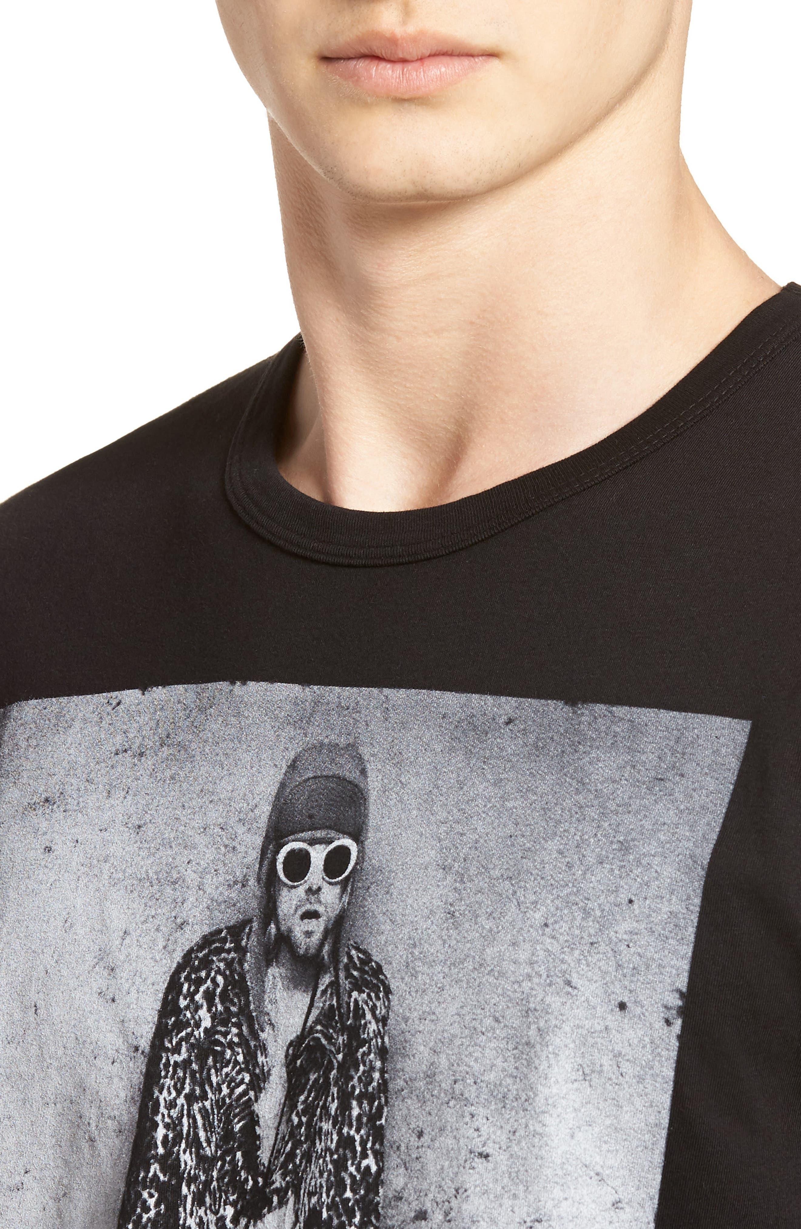 Kurt Cobain Classic T-Shirt,                             Alternate thumbnail 4, color,                             Vintage Black