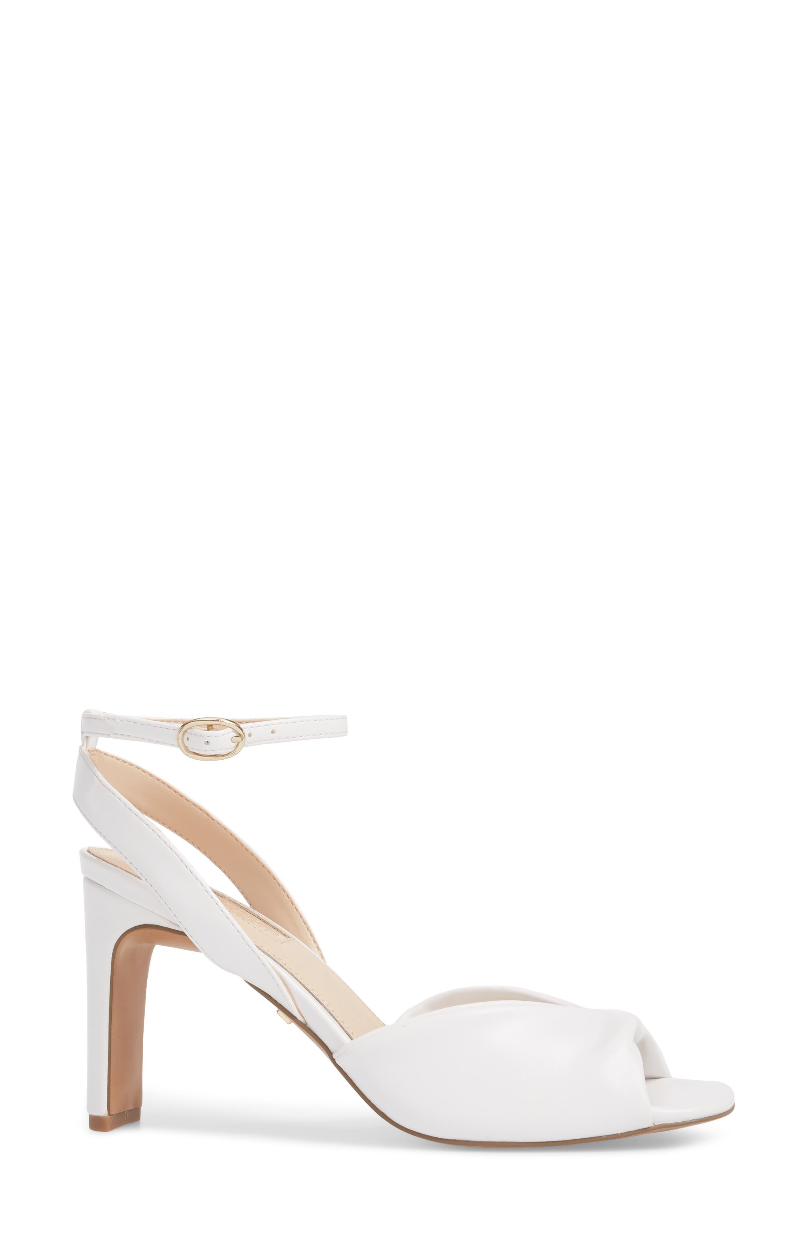 Raven Skinny Heel Sandal,                             Alternate thumbnail 3, color,                             White