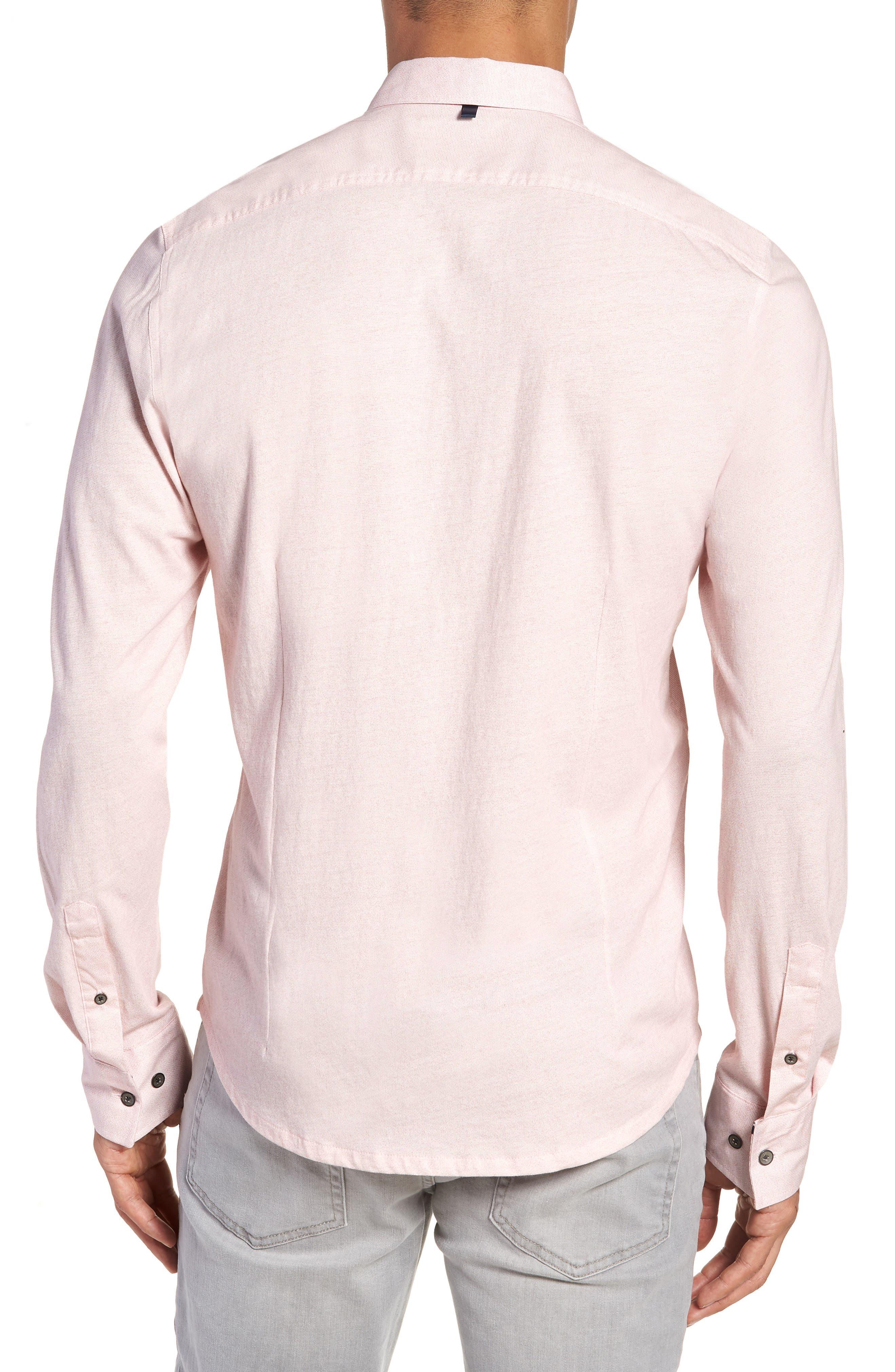 Reworked Slim Fit Speckled Sport Shirt,                             Alternate thumbnail 2, color,                             Pink