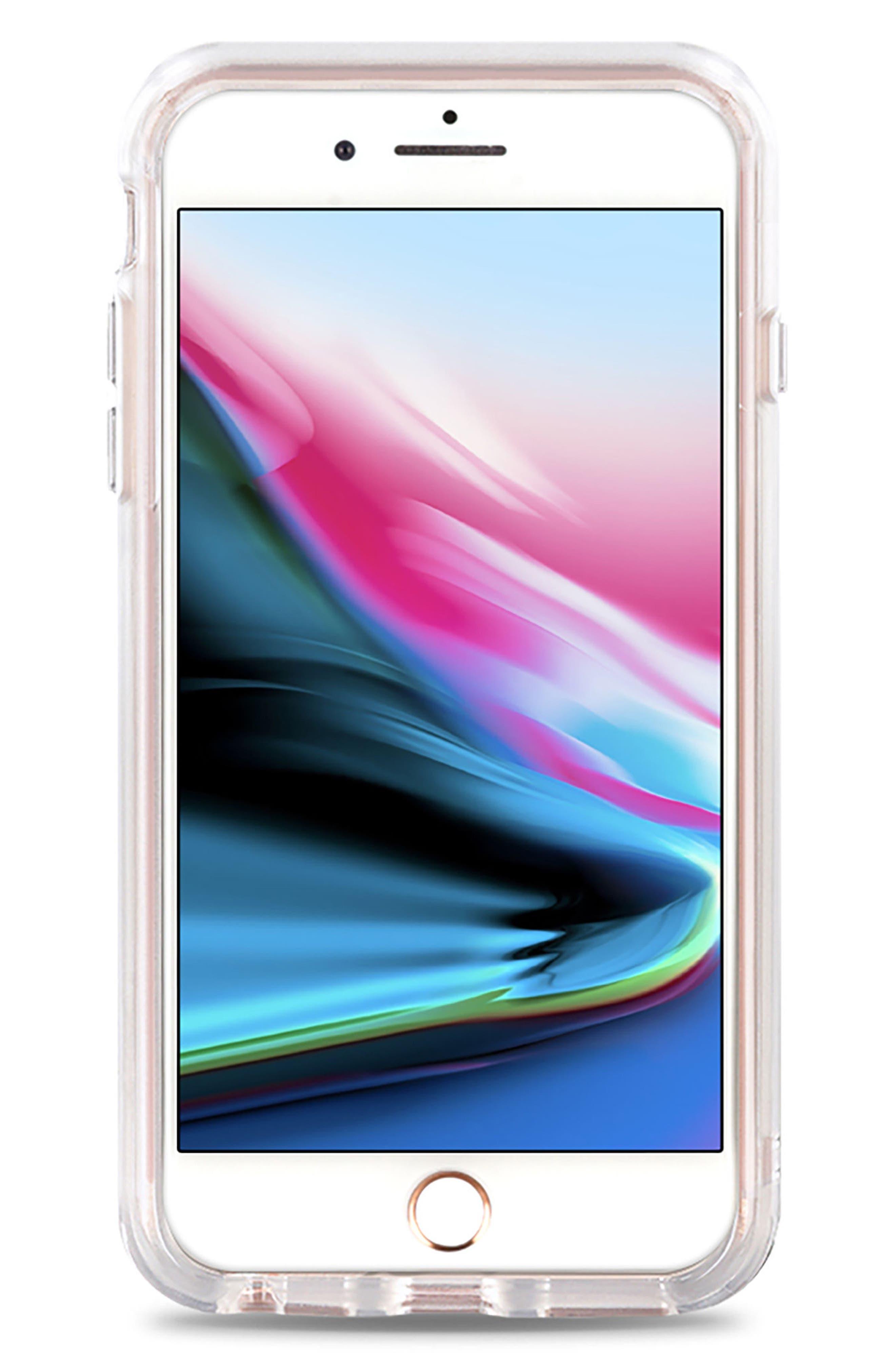 Pink Floral Grip iPhone 7/8 & 7/8 Plus Case,                             Alternate thumbnail 3, color,                             Pink