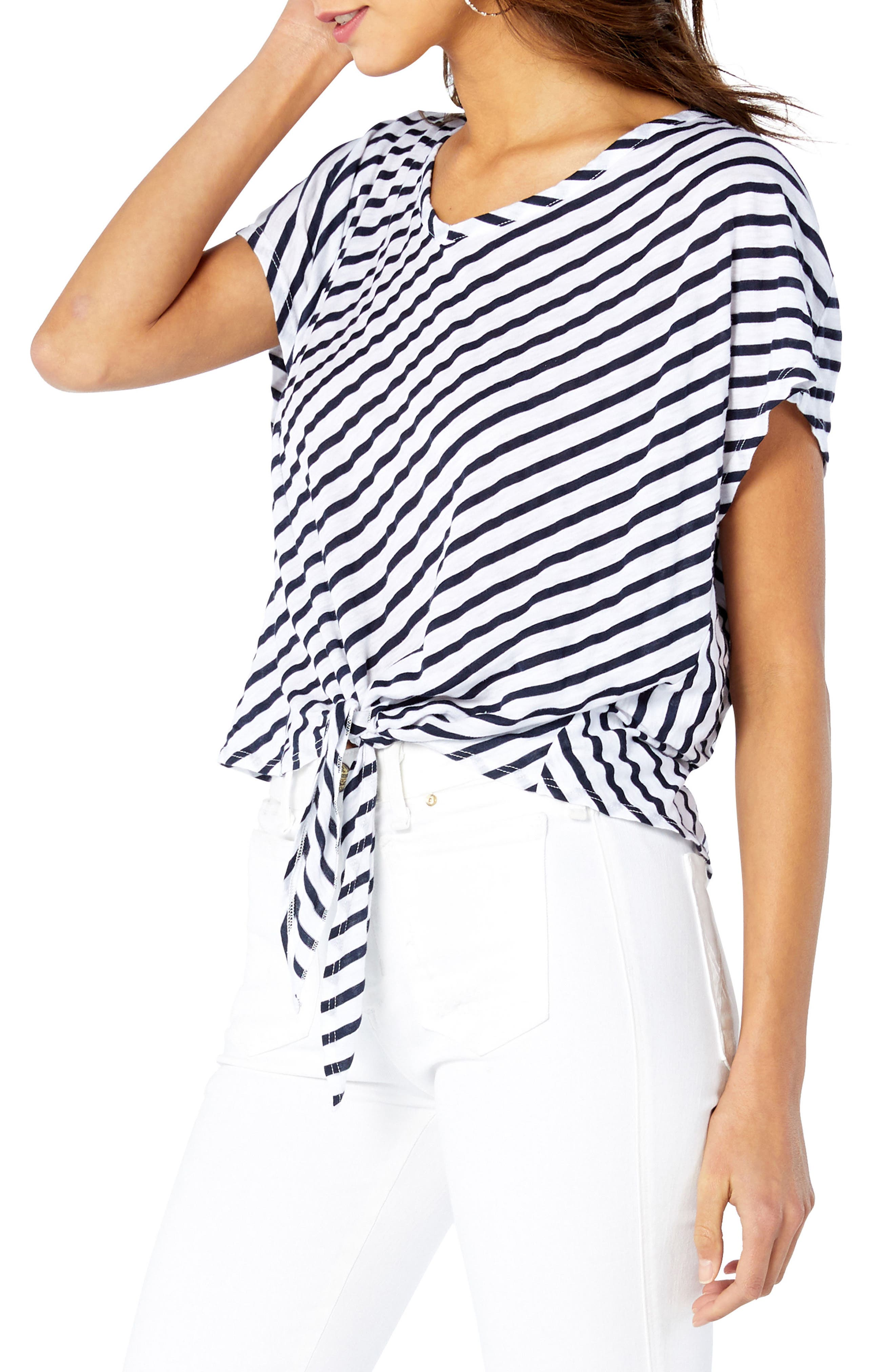Riviera Tie Front Top,                             Alternate thumbnail 3, color,                             White