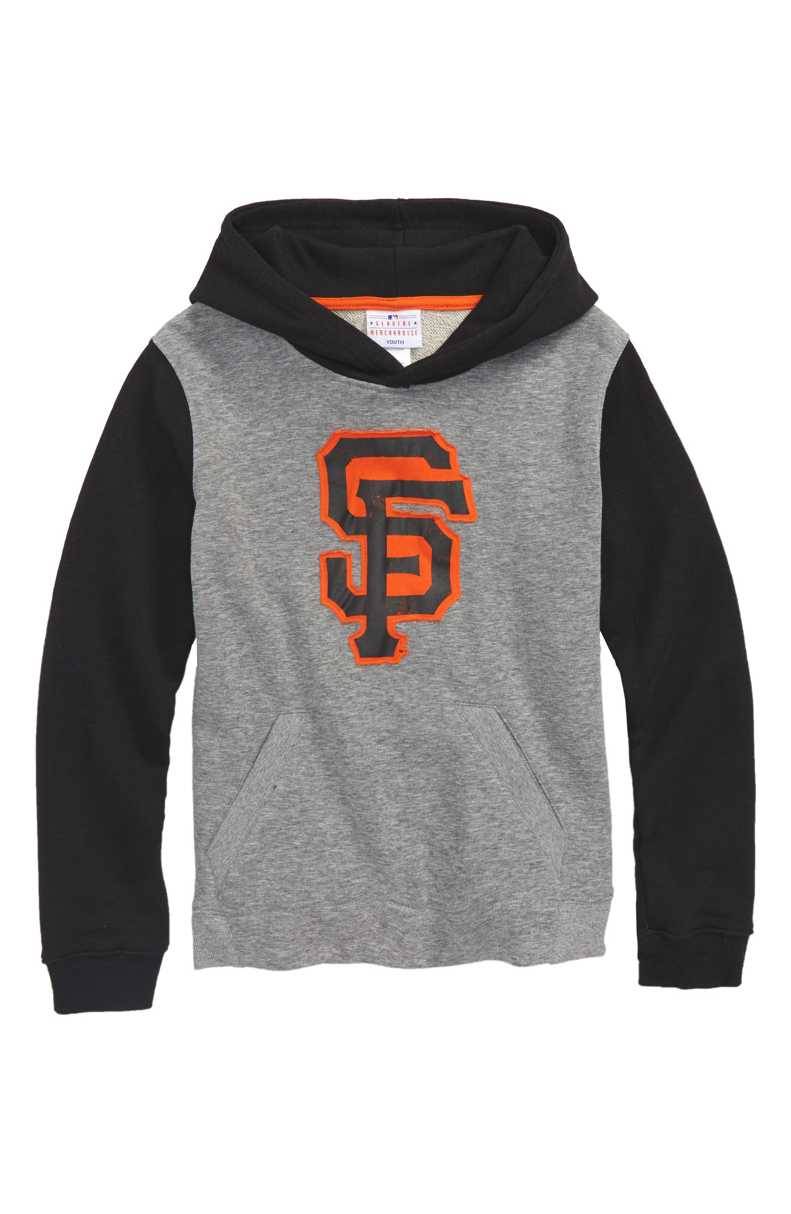 New Beginnings - San Francisco Giants Pullover Hoodie,                             Main thumbnail 1, color,                             Gray