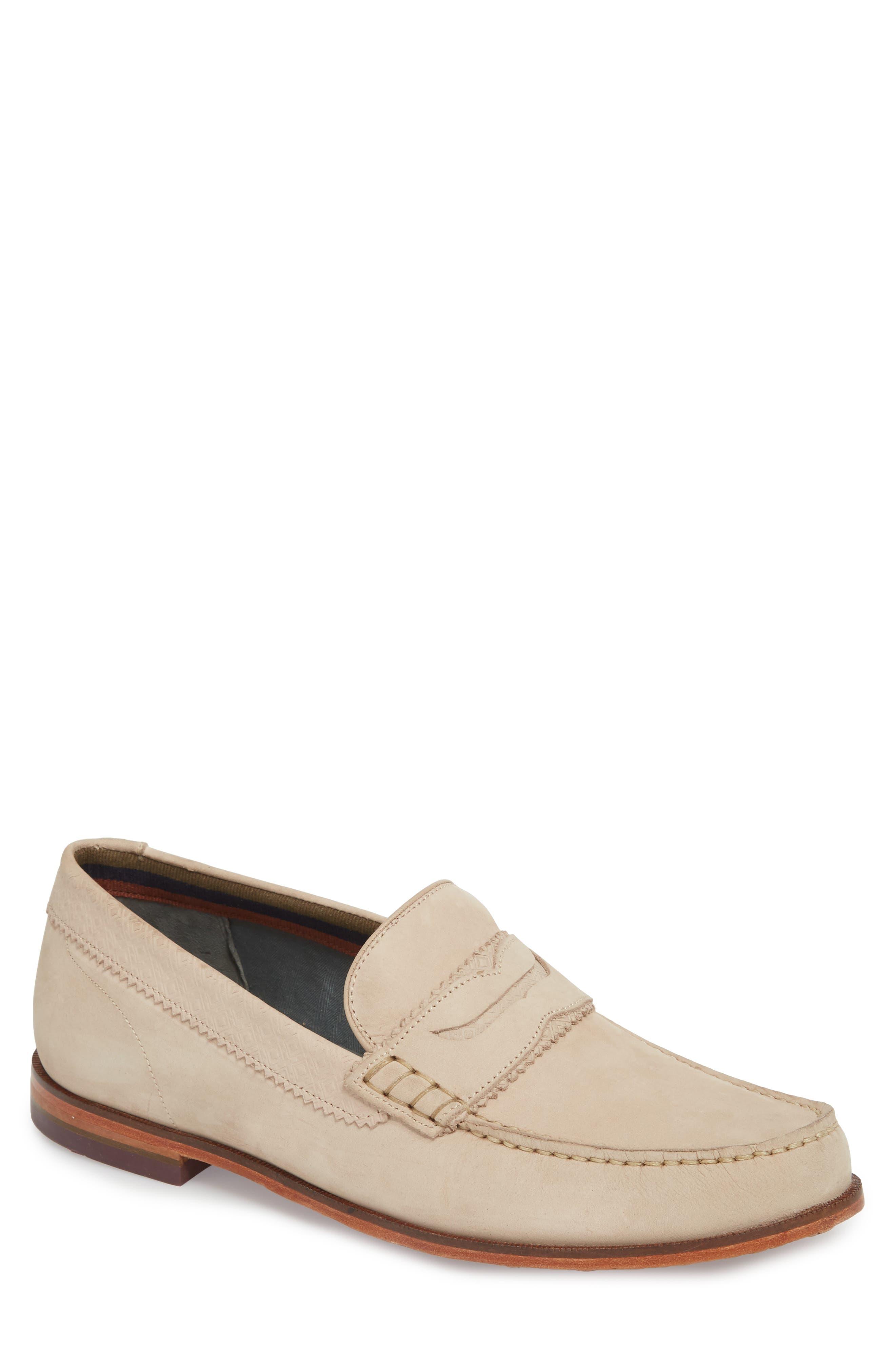 Miicke 6 Penny Loafer,                         Main,                         color, Light Tan Nubuck
