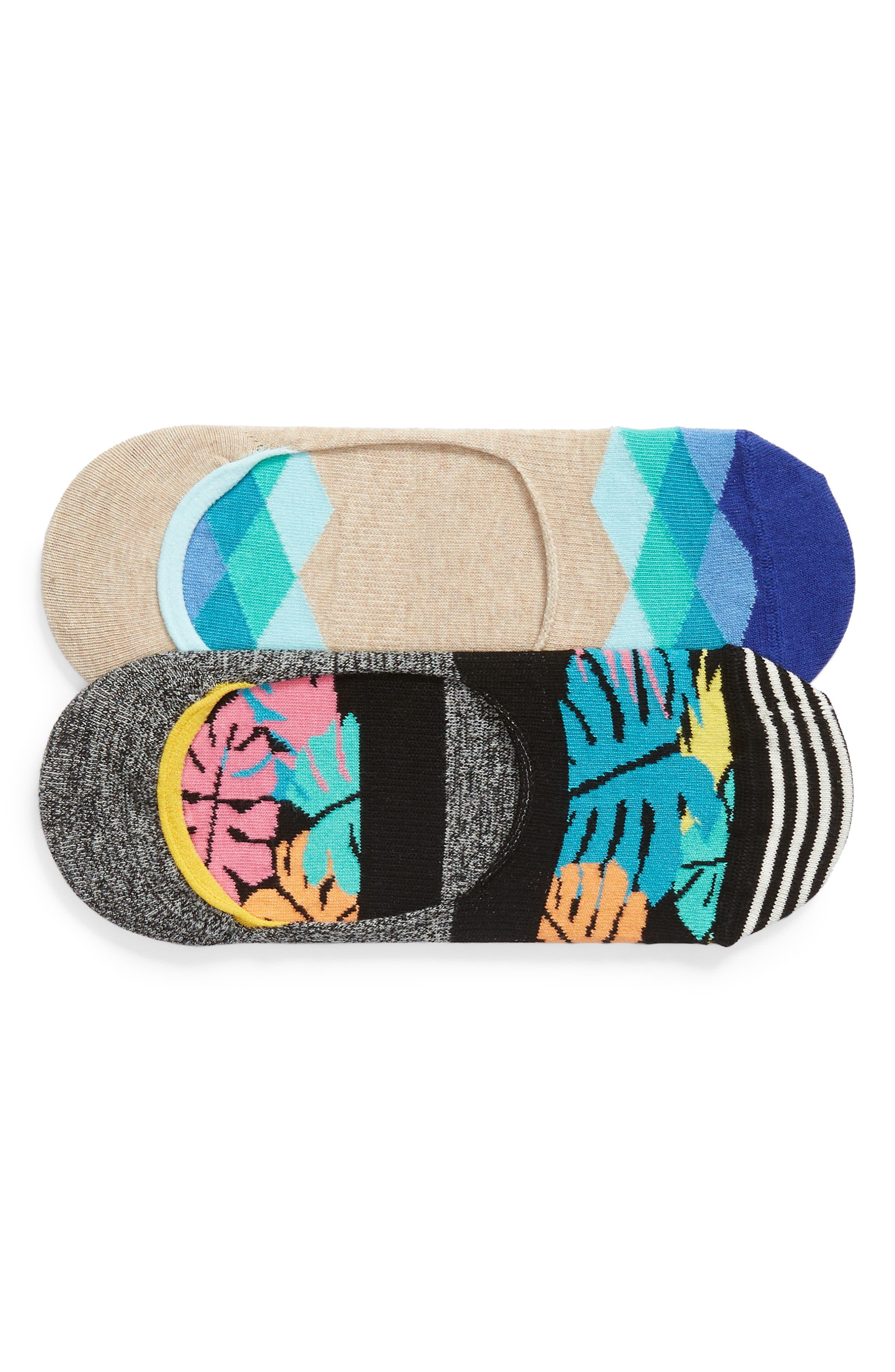 Jungle 2-Pack Liner Socks,                         Main,                         color, Black