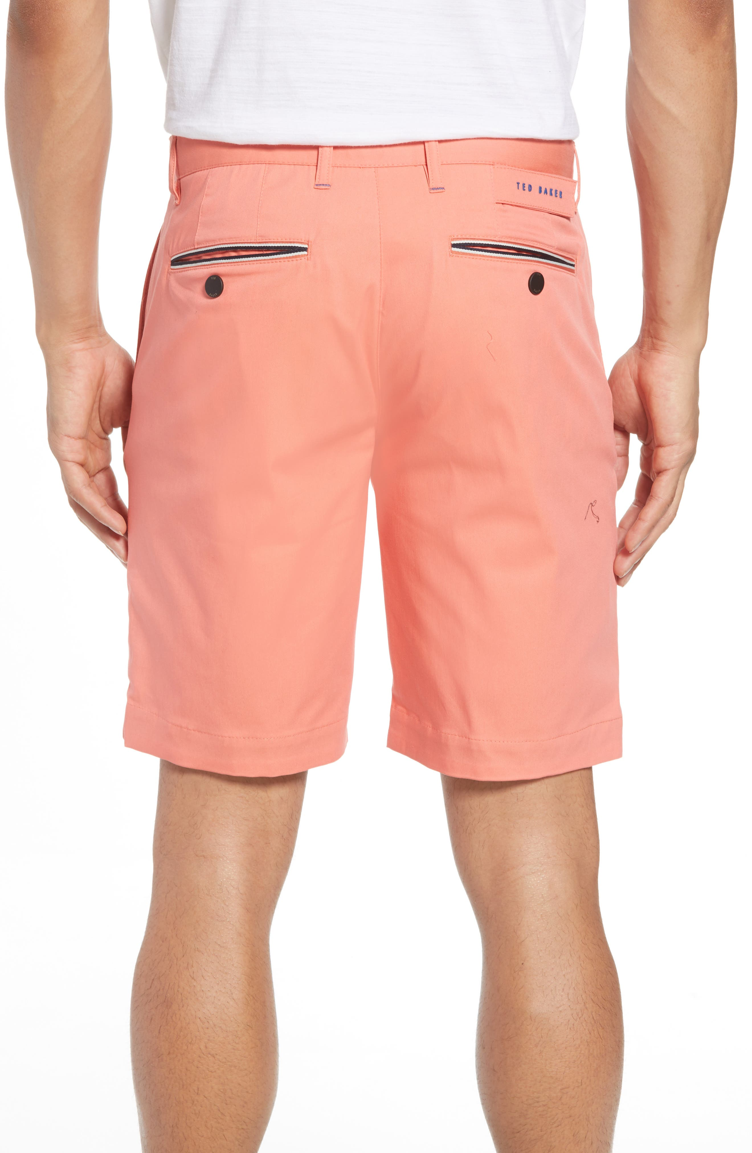 Twopar Flat Front Shorts,                             Alternate thumbnail 2, color,                             Coral