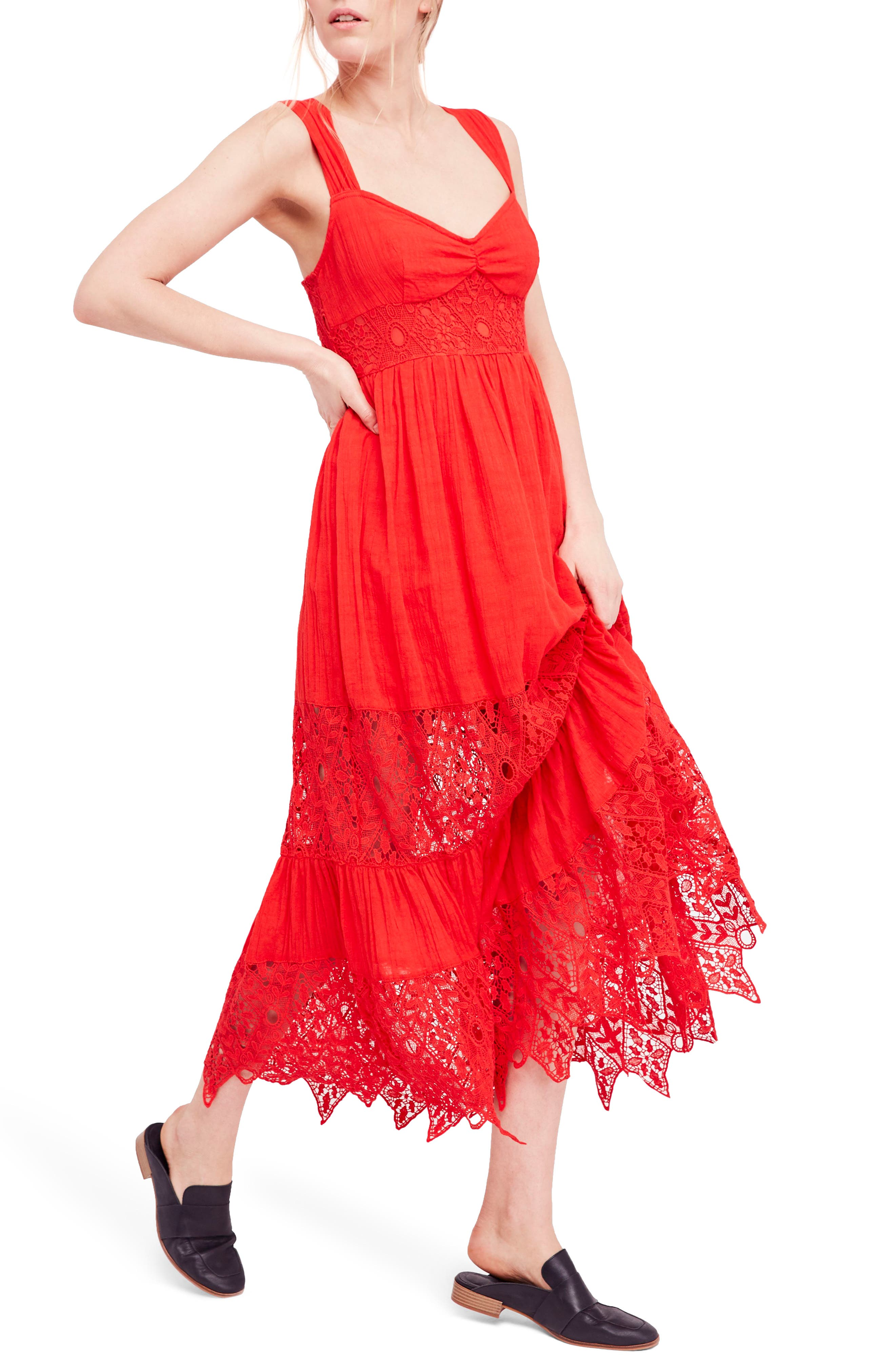 Caught Your Eye Maxi Dress,                             Main thumbnail 1, color,                             Red
