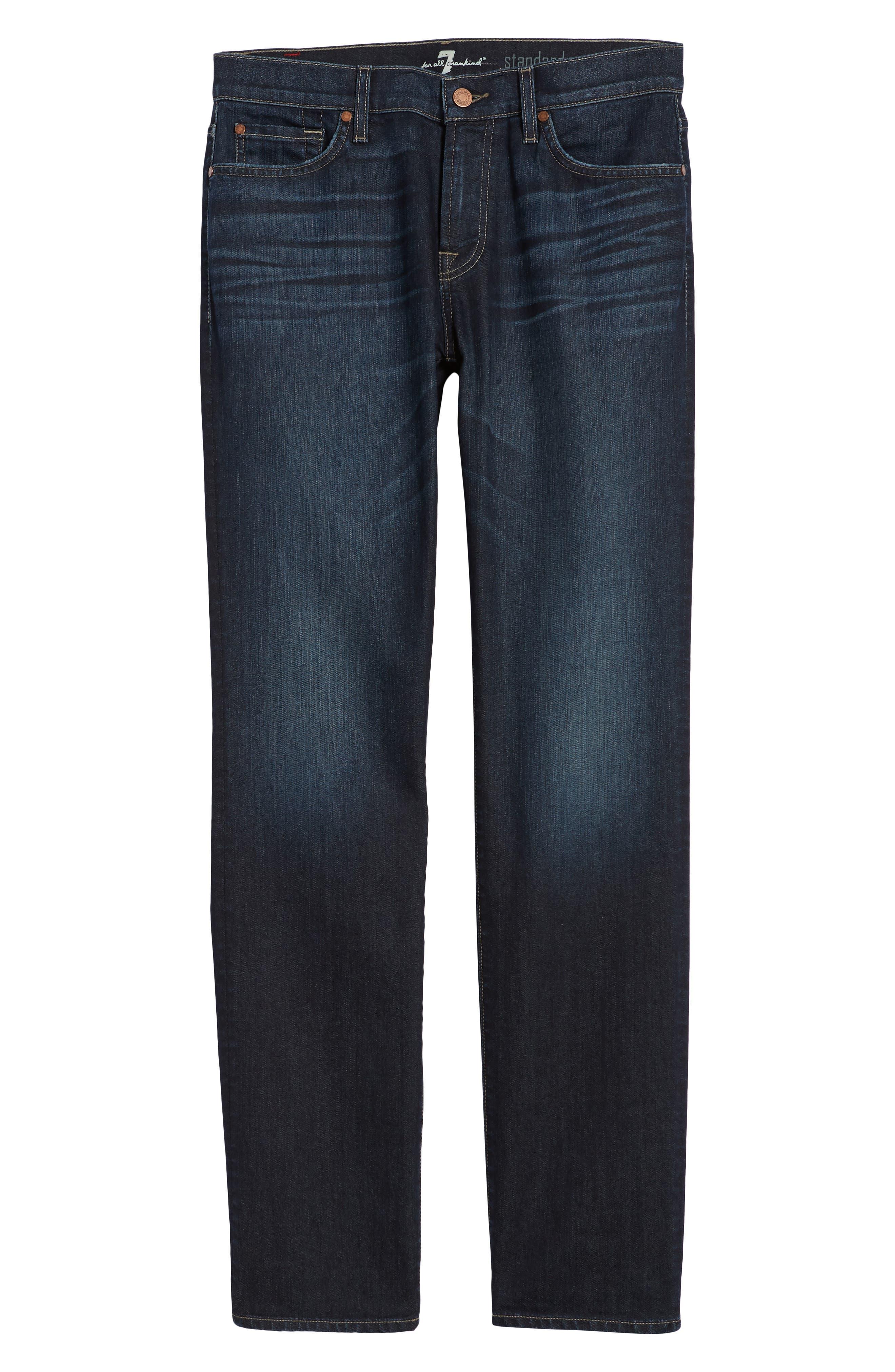 Airweft Standard Straight Leg Jeans,                             Alternate thumbnail 6, color,                             Concierge