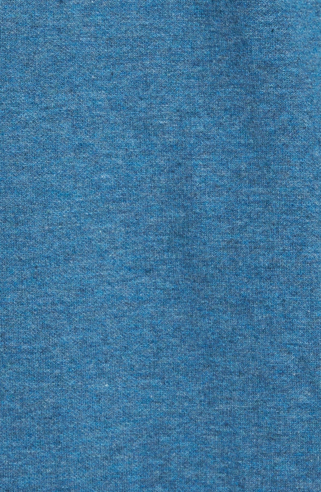 Space Dyed Zip Hoodie,                             Alternate thumbnail 5, color,                             Blue Dark Heather