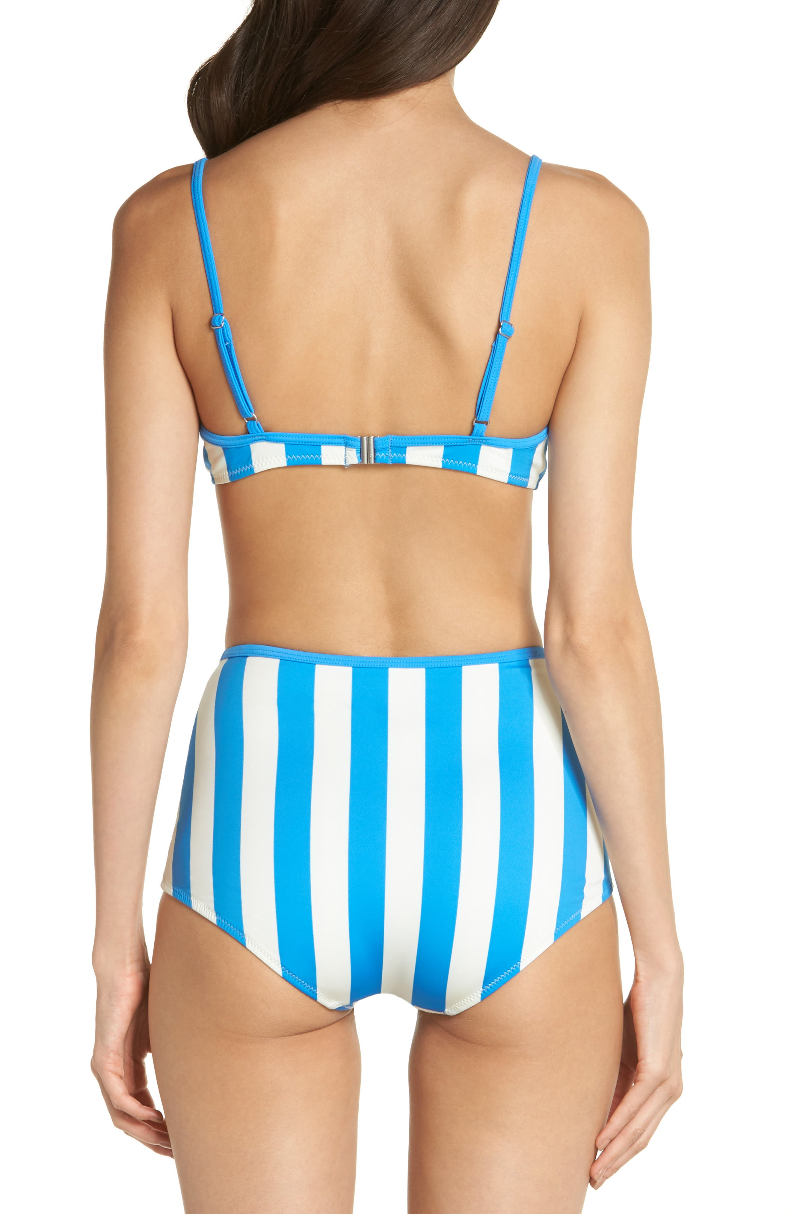 Billabong Brigitte Bikini Top,                             Alternate thumbnail 6, color,                             Sea Stripe