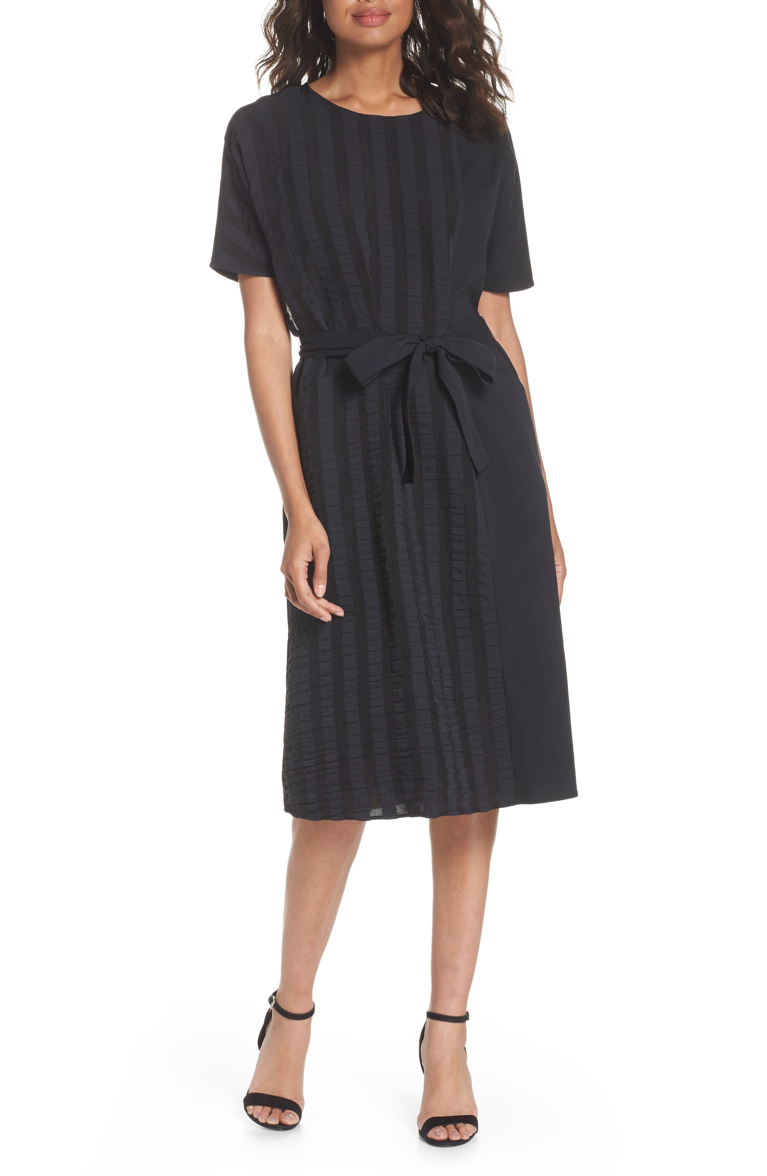Throwing Shade Midi Dress,                             Main thumbnail 1, color,                             Black