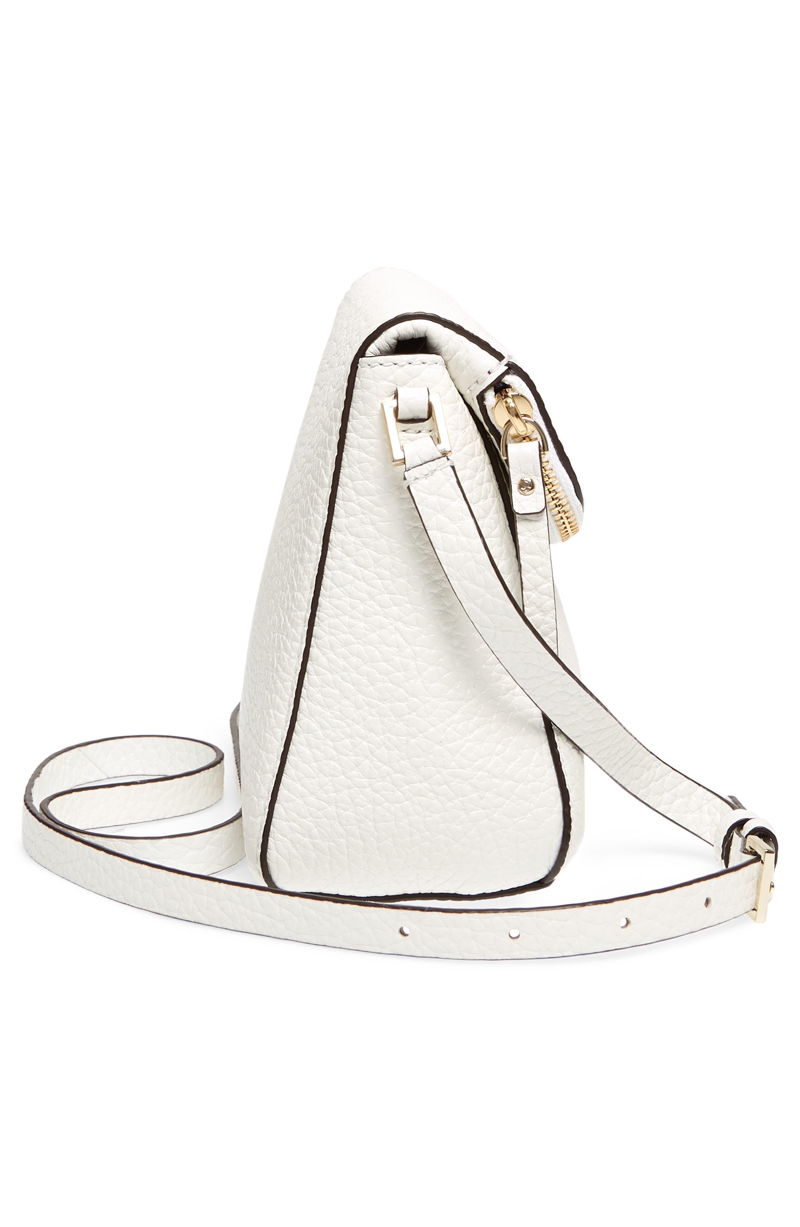 carter street - berrin leather crossbody bag,                             Alternate thumbnail 4, color,                             Bright White