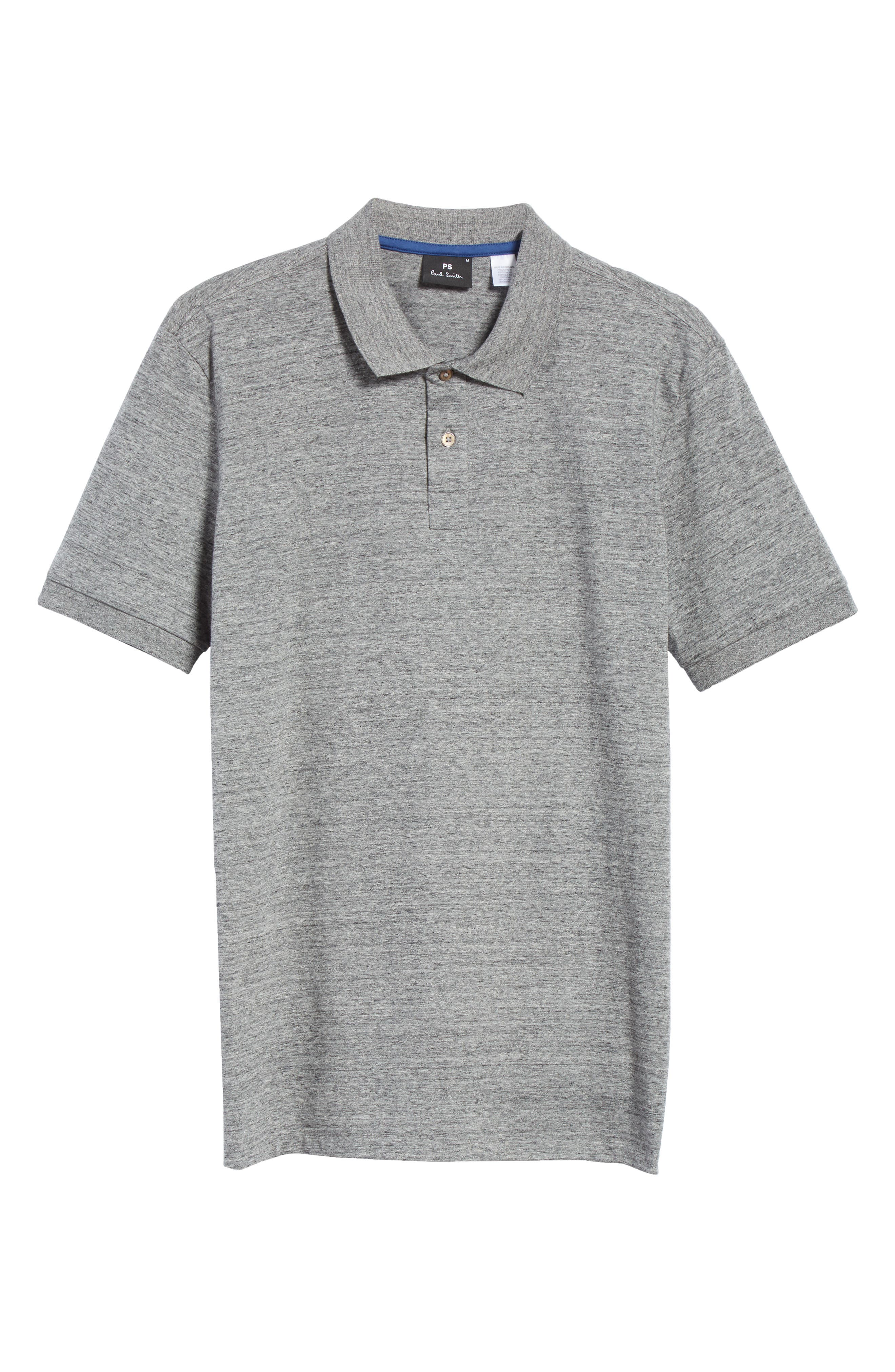 Jersey Polo,                         Main,                         color, Grey Melange