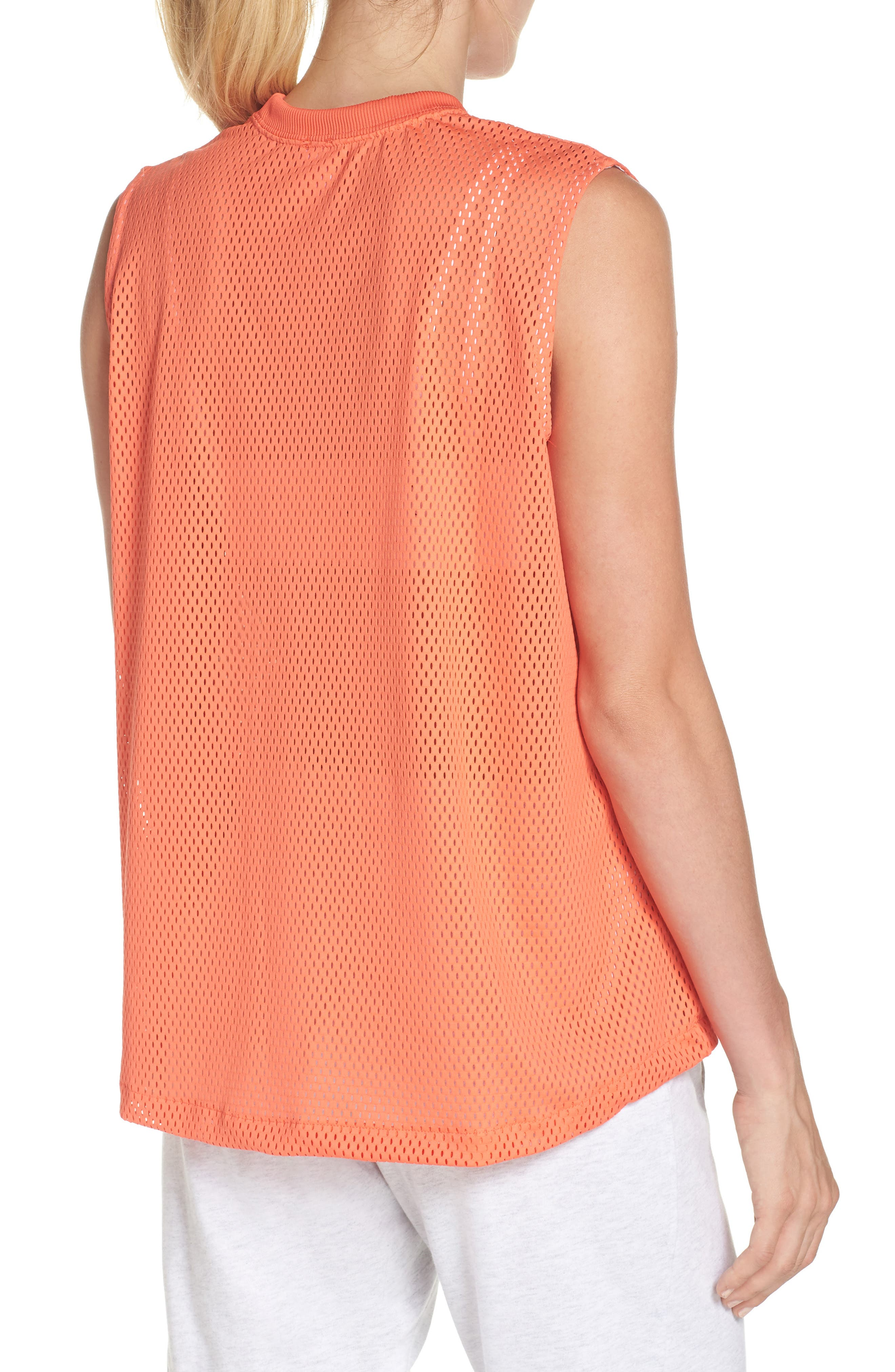 Sportswear Women's Dry Mesh Muscle Tank,                             Alternate thumbnail 2, color,                             Rush Coral/ White