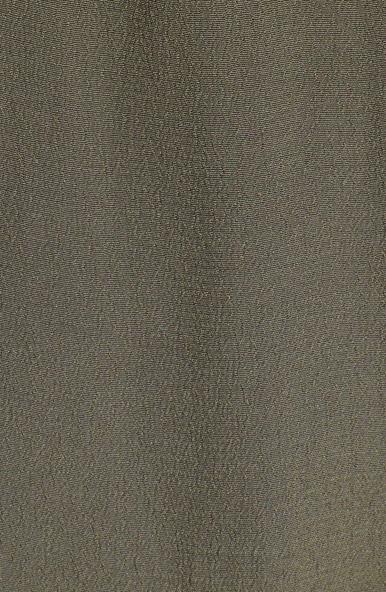 Ruched Back Vest,                             Alternate thumbnail 6, color,                             Olive Sarma