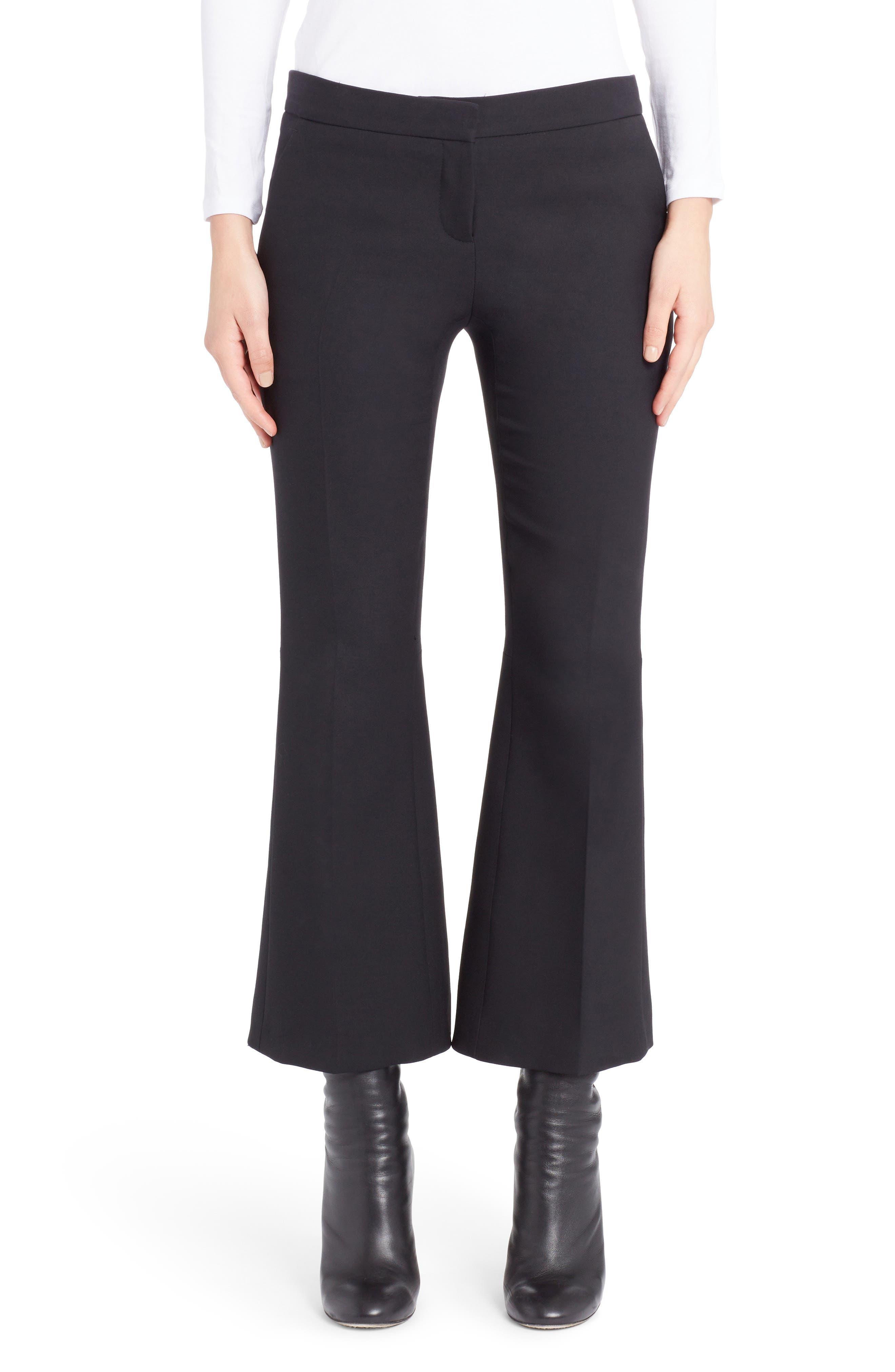 Alexander McQueen Kickback Crop Flare Pants