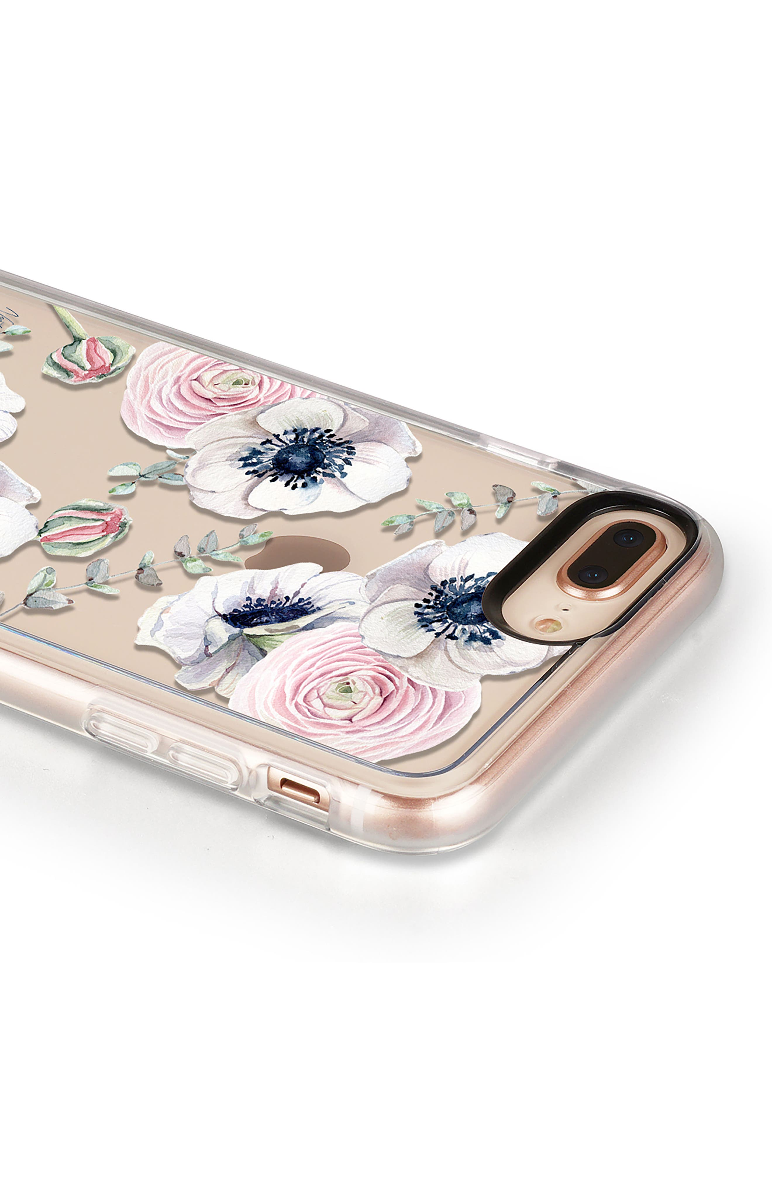 Blossom Love iPhone 7/8 & 7/8 Plus Case,                             Alternate thumbnail 4, color,                             Clear Multi