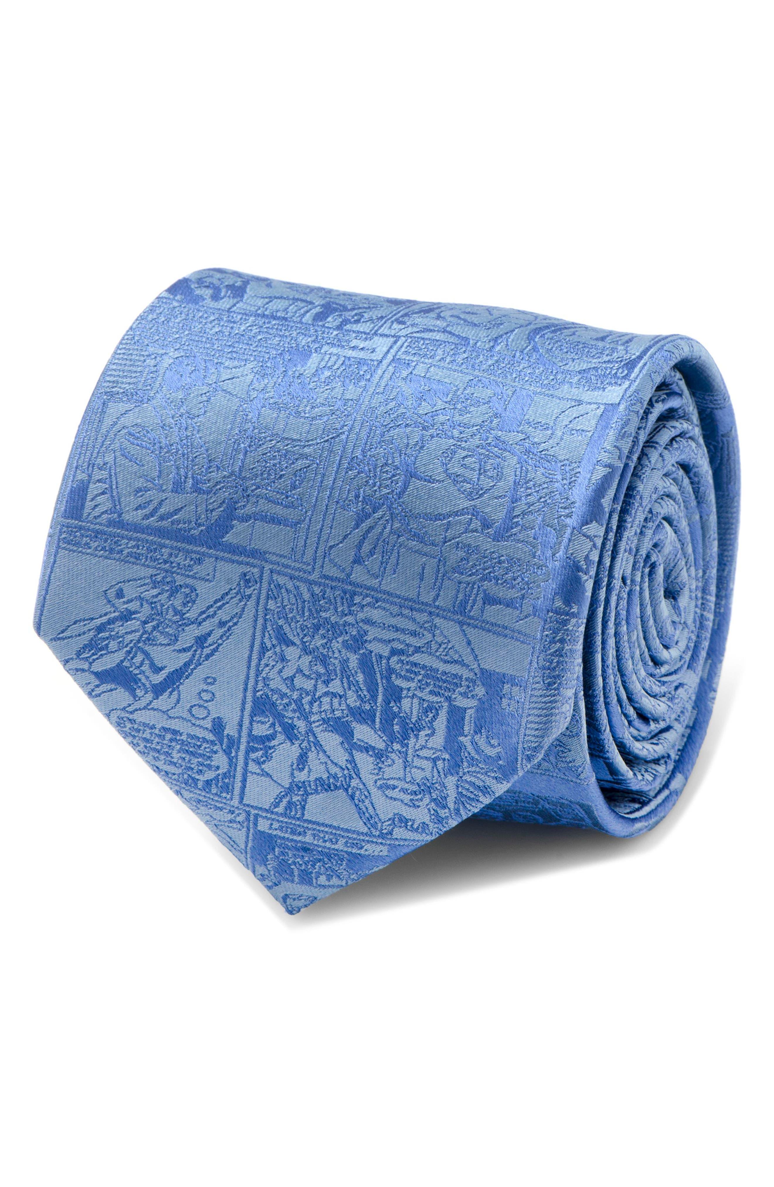 Superman Comic Silk Tie,                             Alternate thumbnail 4, color,                             Blue