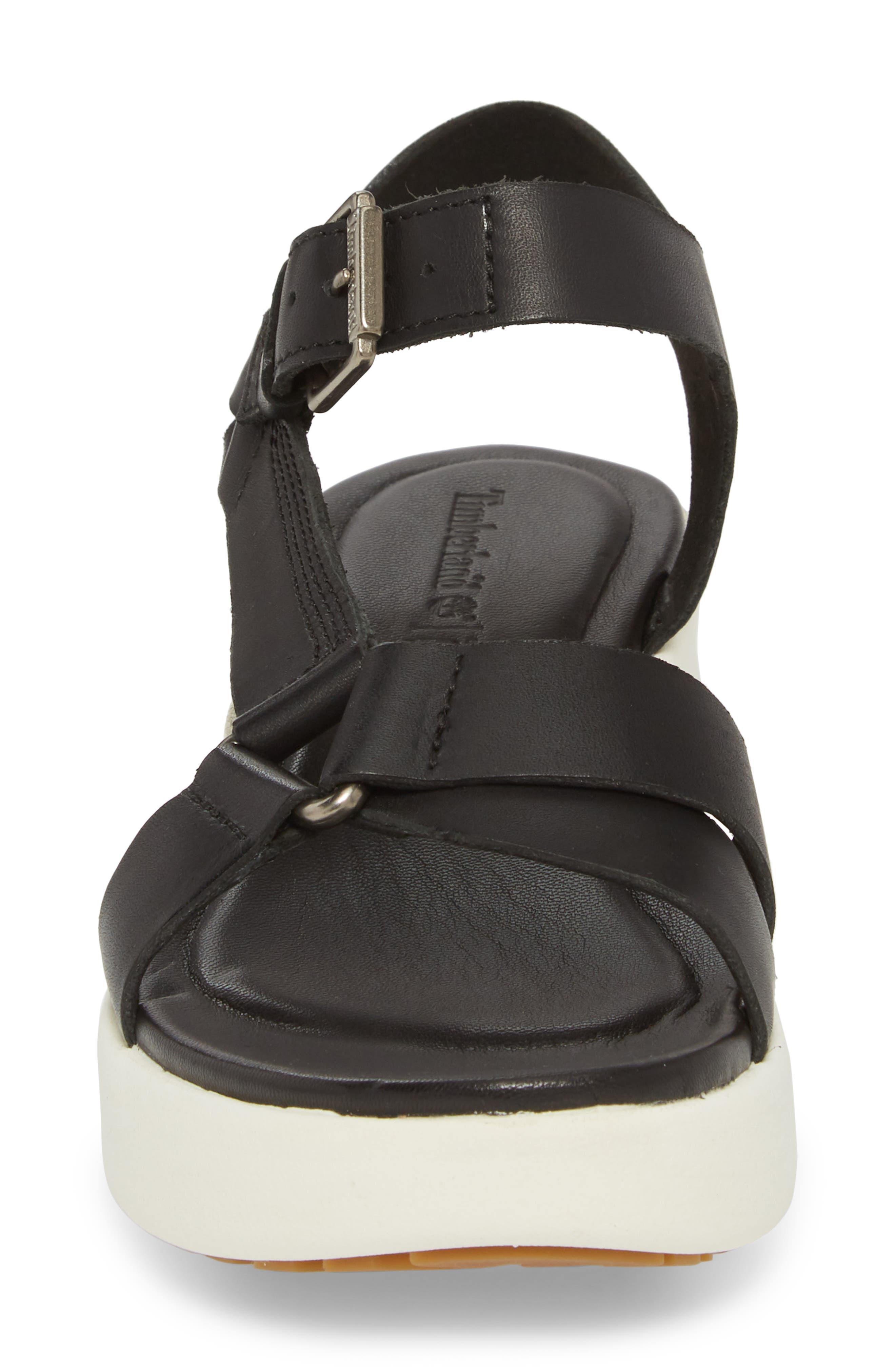 Los Angeles Wind Sport Sandal,                             Alternate thumbnail 4, color,                             Black Leather
