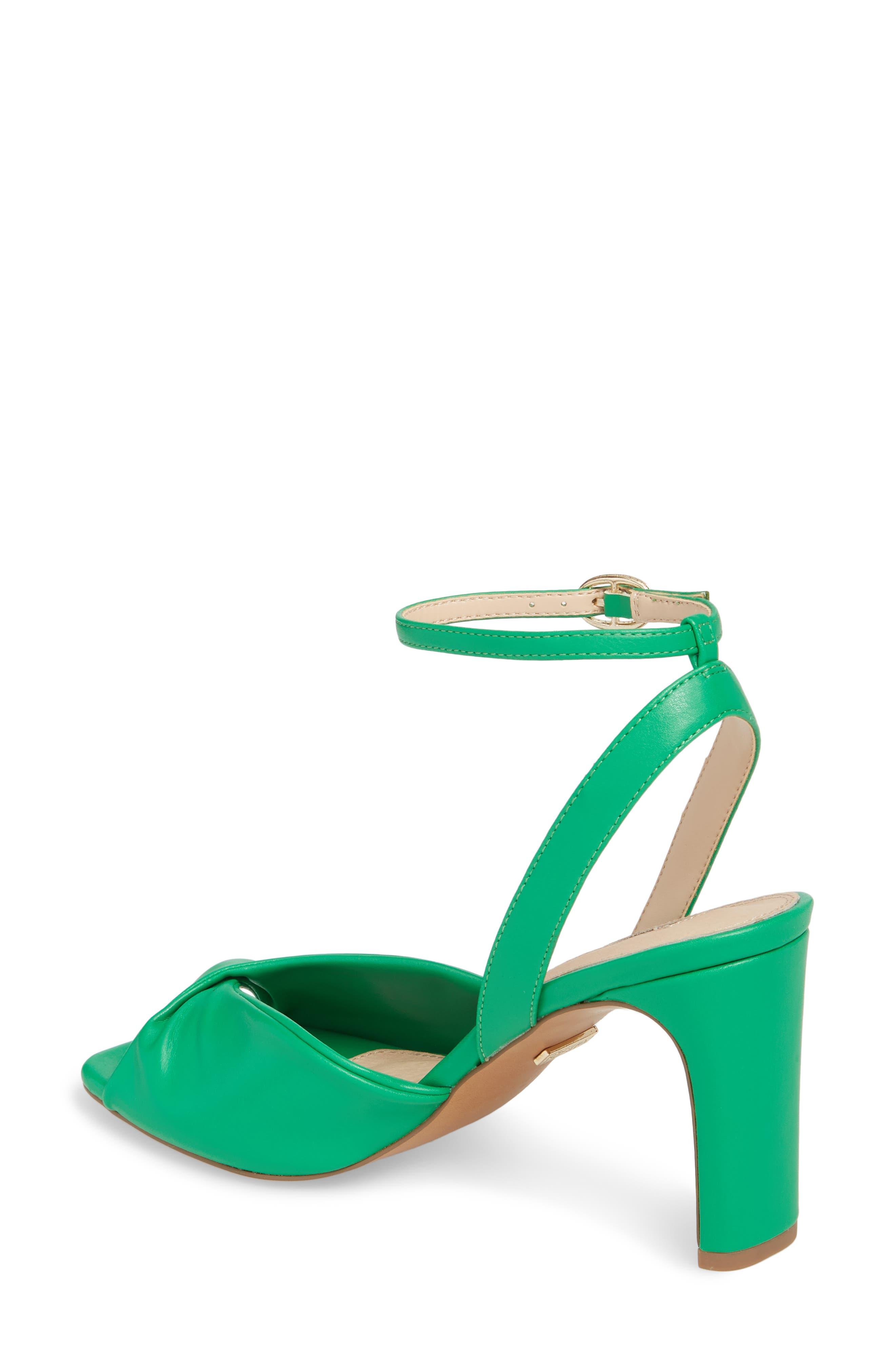 Raven Skinny Heel Sandal,                             Alternate thumbnail 2, color,                             Green