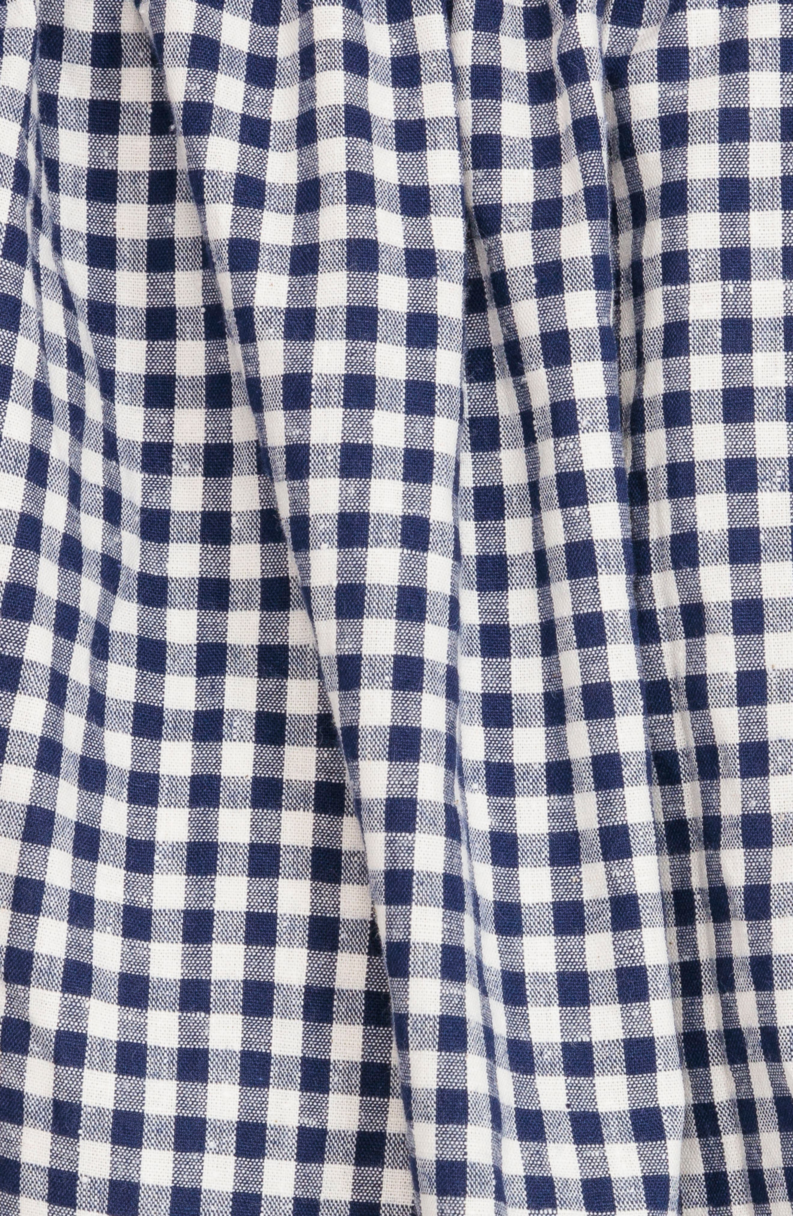 Austin Back Tie Gingham Sundress,                             Alternate thumbnail 6, color,                             Blue Vichy
