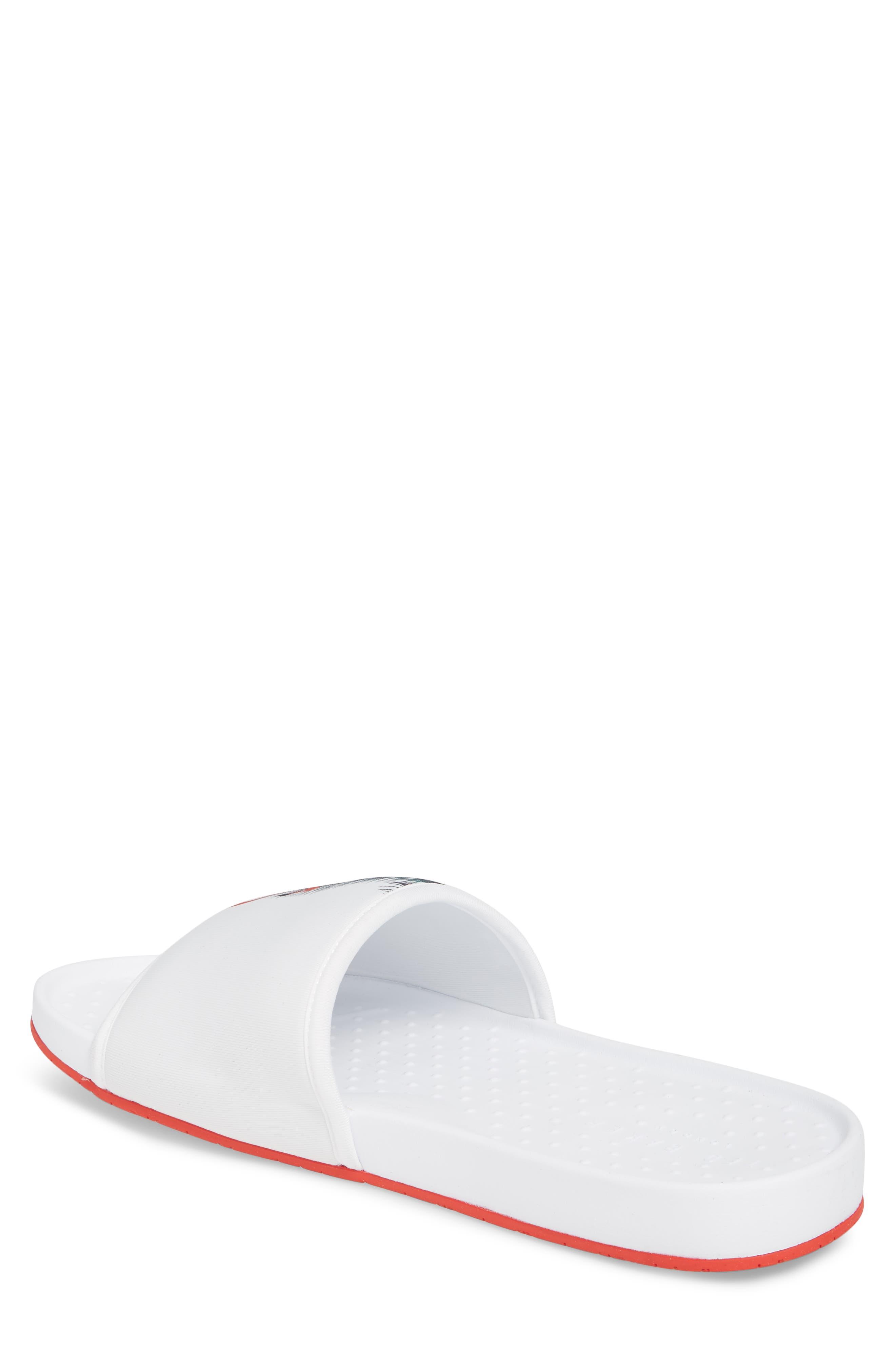 Sauldi 2 Slide Sandal,                             Alternate thumbnail 2, color,                             White/ Red Textile