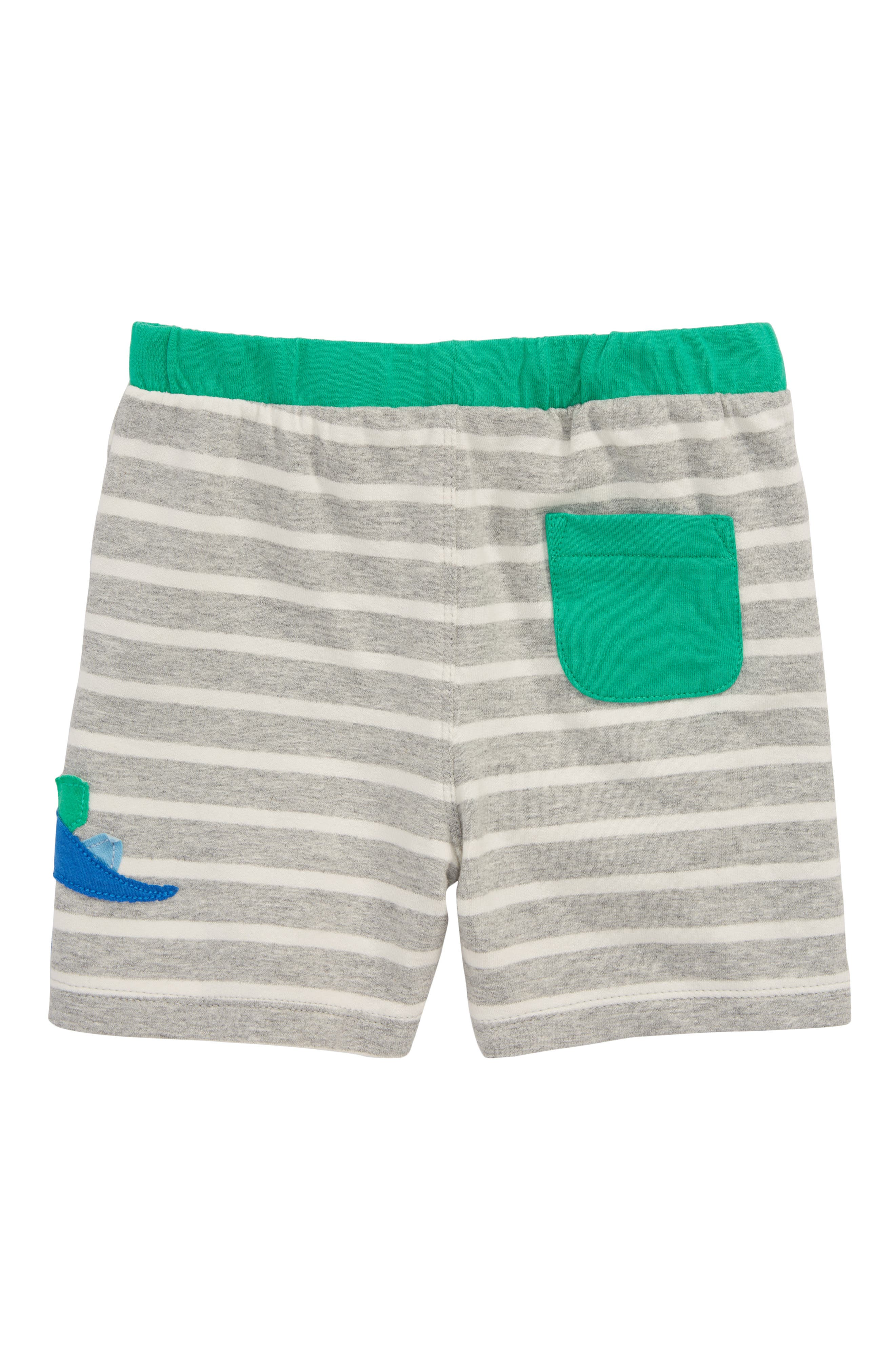 Appliqué Jersey Shorts,                             Alternate thumbnail 2, color,                             Grey Marl