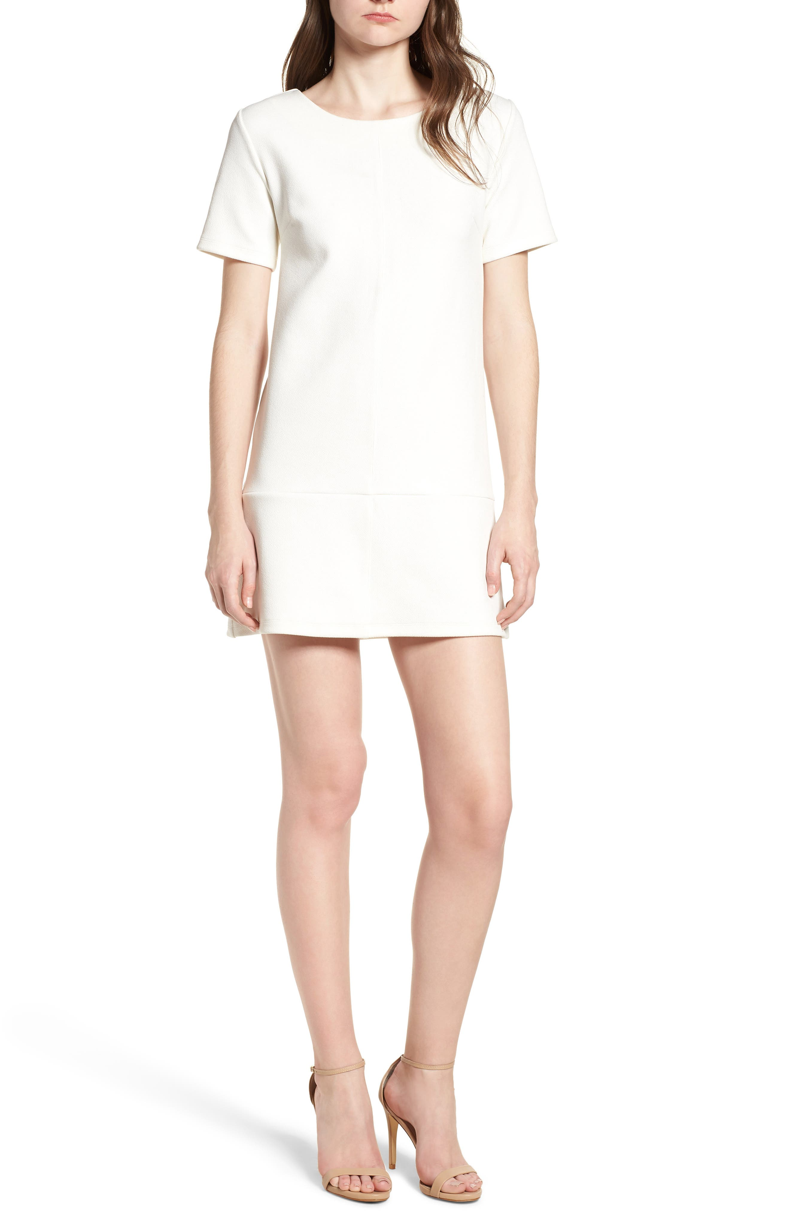 Bishop + Young Ivy Shift Dress,                         Main,                         color, White