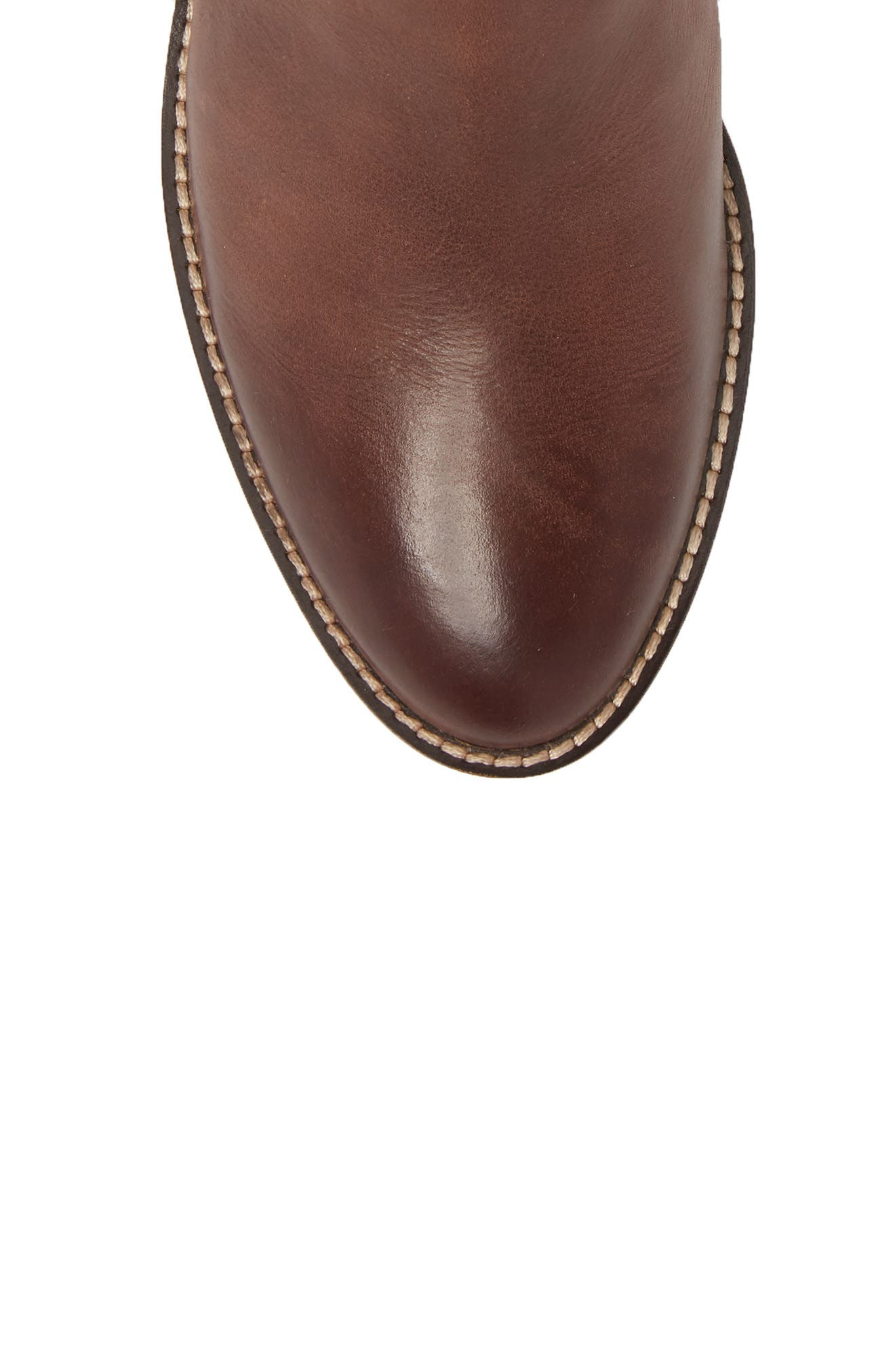 Harrington Grand Buckle Bootie,                             Alternate thumbnail 5, color,                             Chocolate Leather