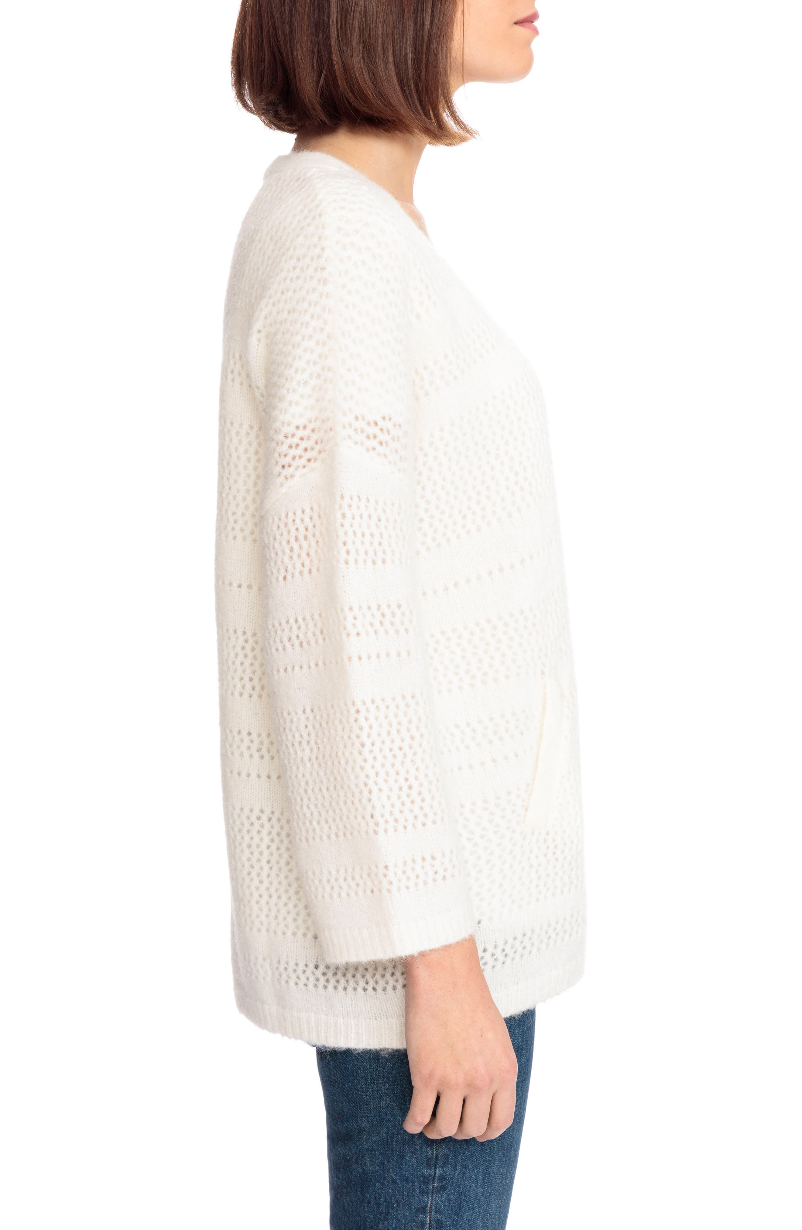 Firmin Cardigan,                             Alternate thumbnail 4, color,                             Off White