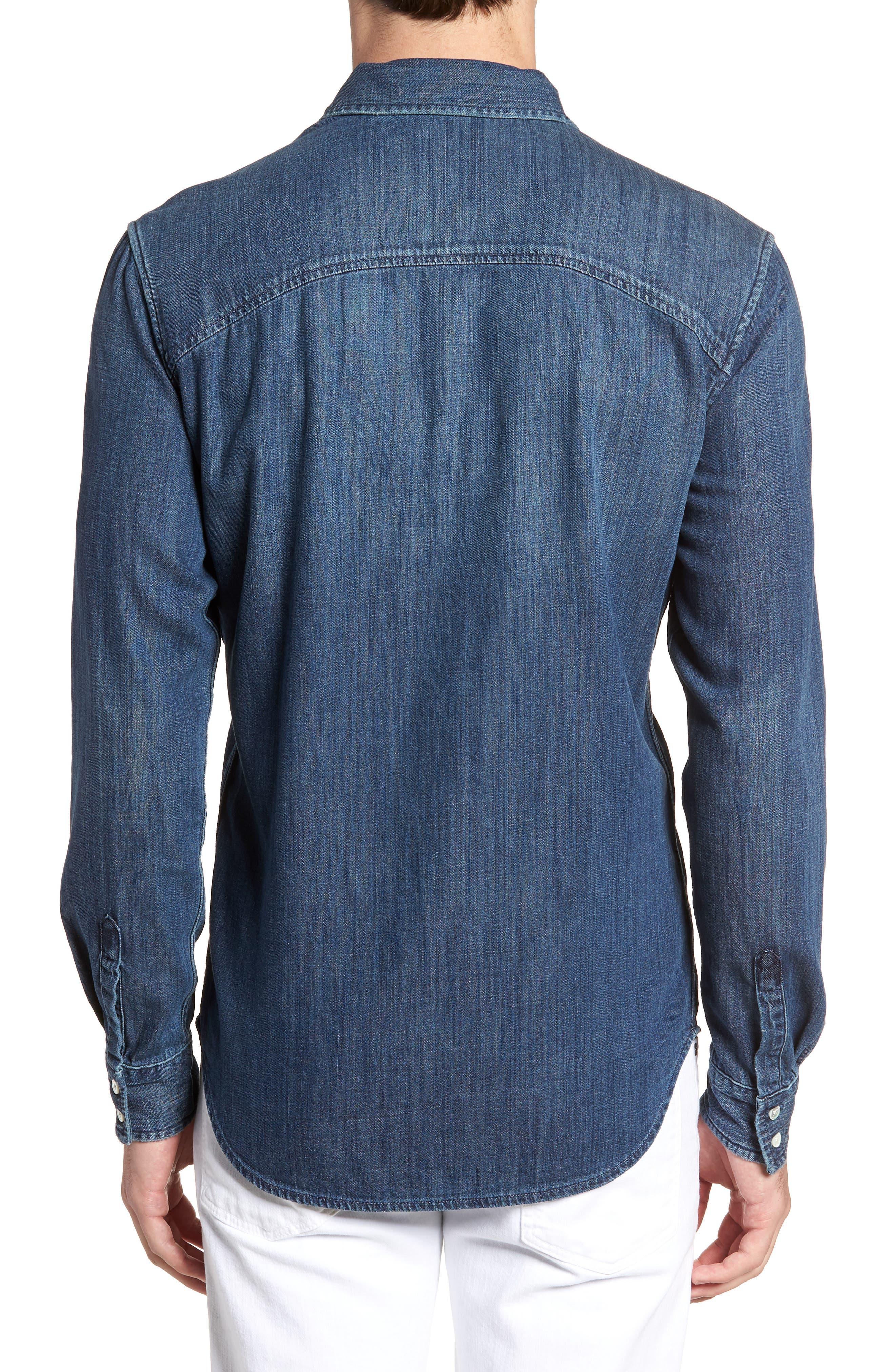 Regular Fit Sport Shirt,                             Alternate thumbnail 2, color,                             Dark Indigo