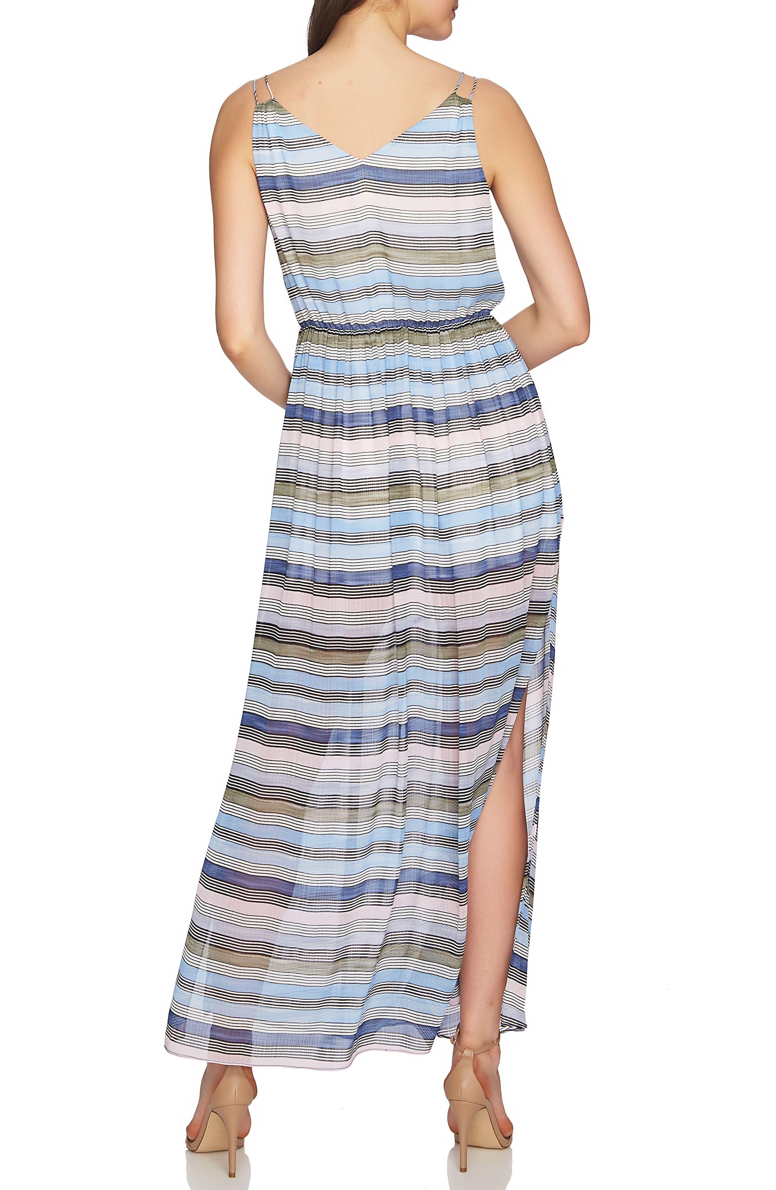 Jordan Stripe Maxi Dress,                             Alternate thumbnail 2, color,                             Rainfall