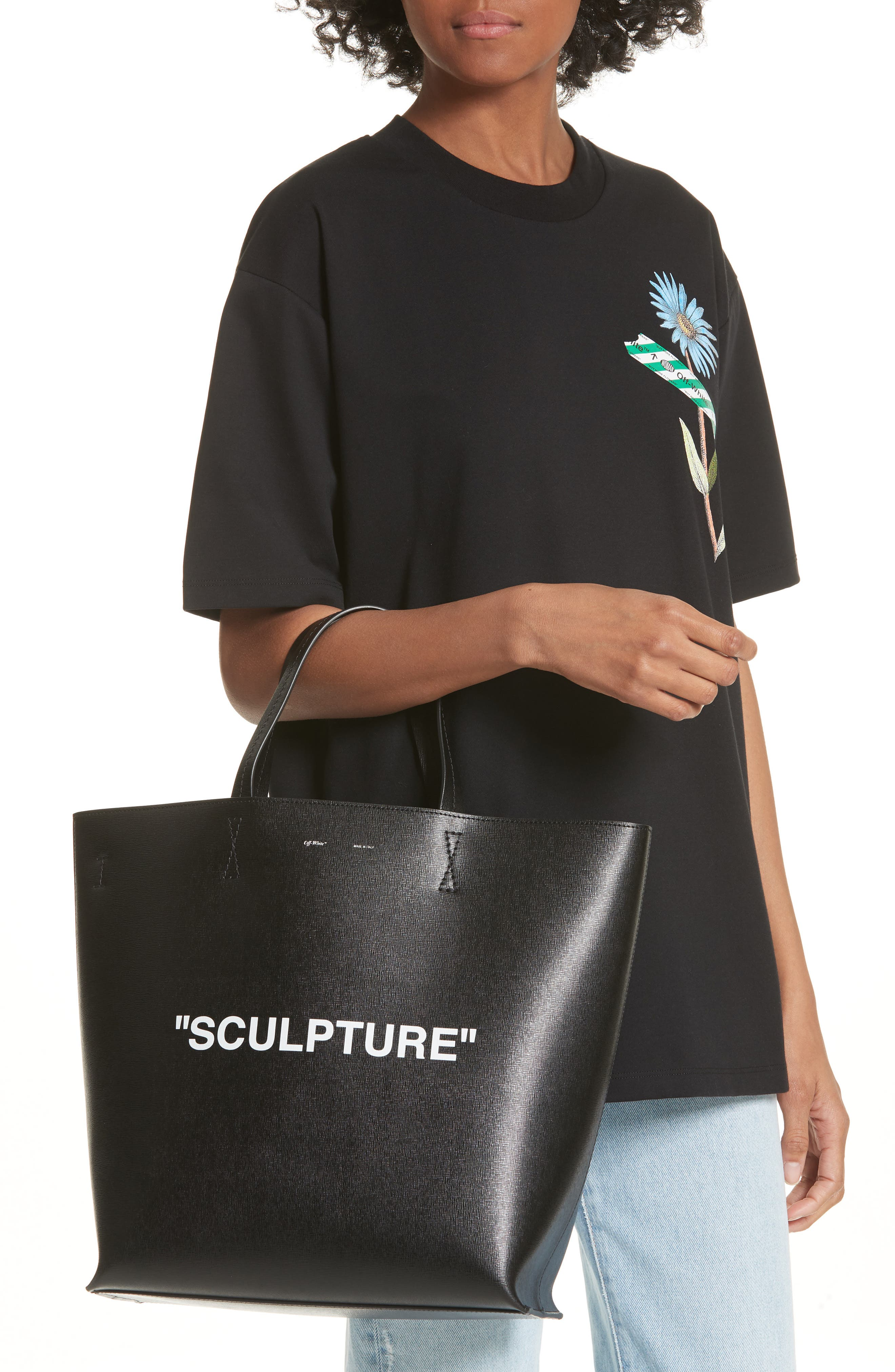 Alternate Image 2  - Off-White Large Sculpture Leather Tote
