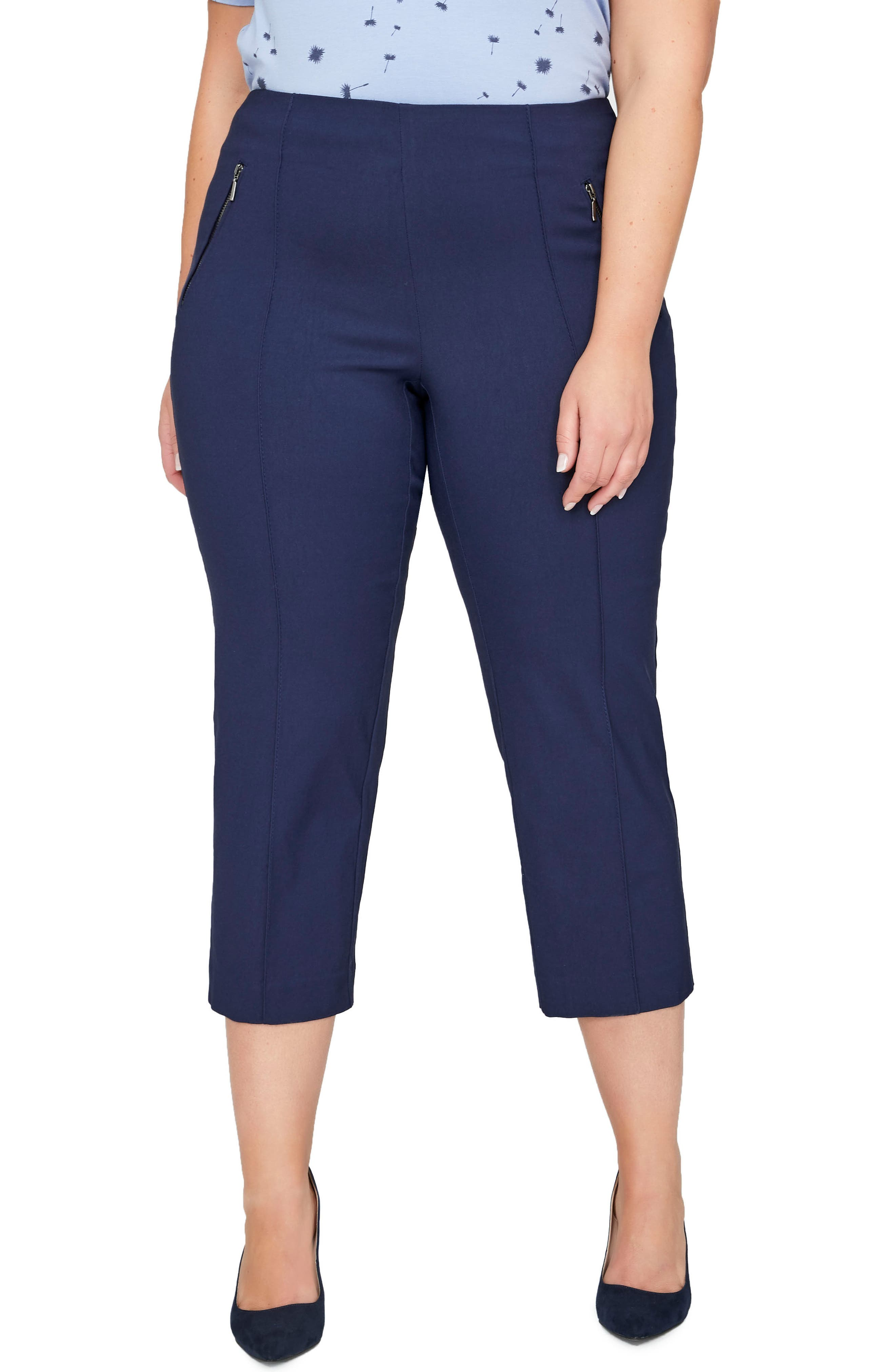 Alexa Crop Pants,                         Main,                         color, Maritime Blue