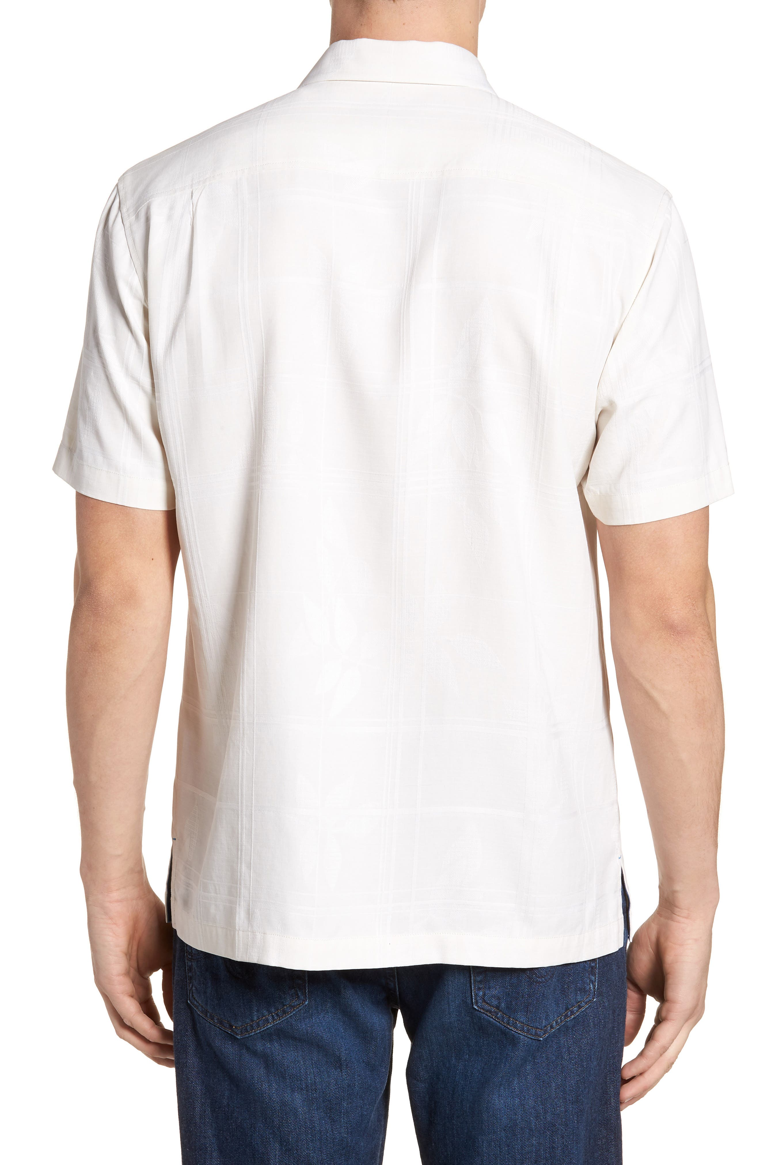 Puerto Vallarta Palms Silk Camp Shirt,                             Alternate thumbnail 3, color,                             Continental
