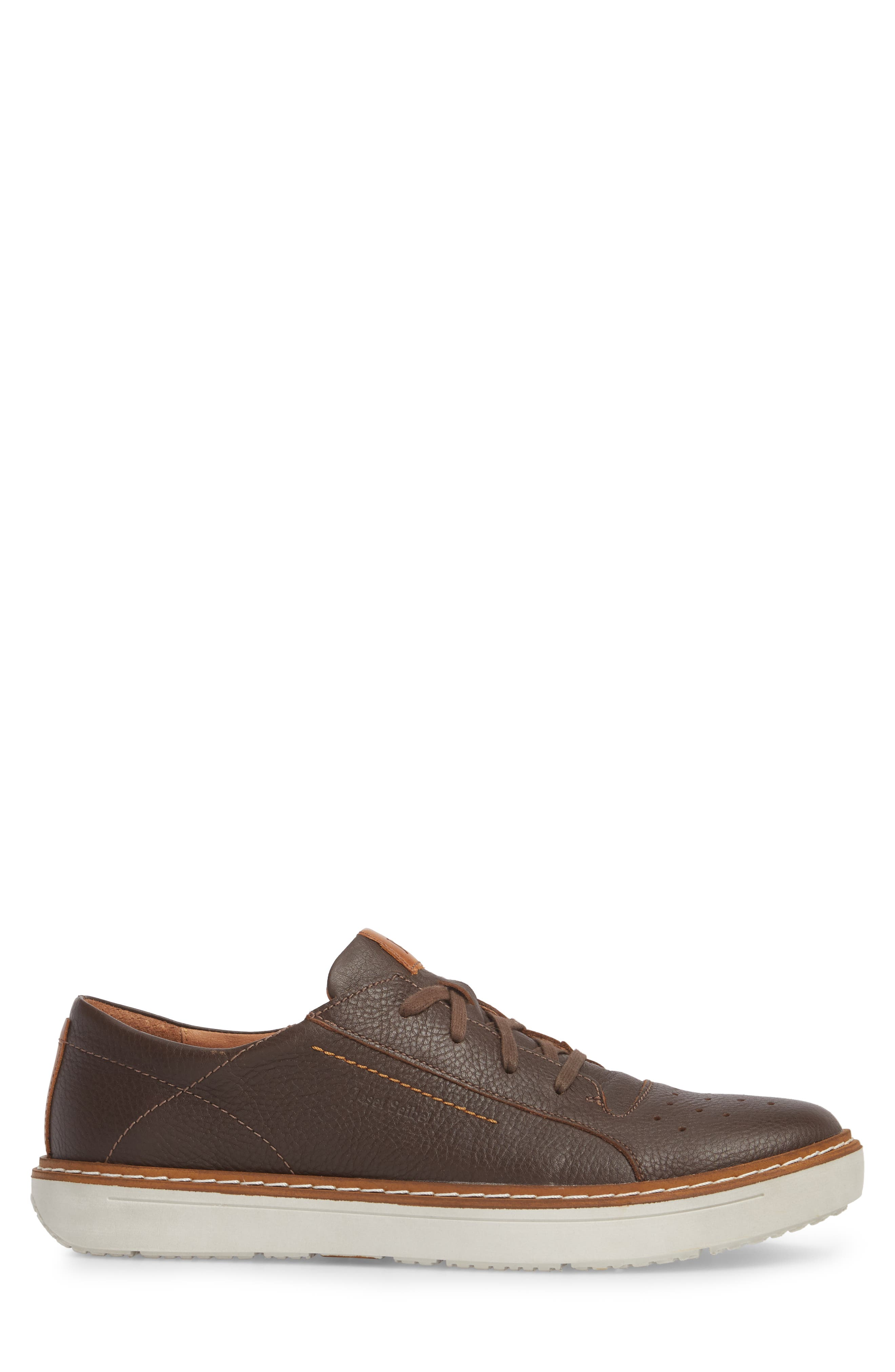 Quentin 03 Low Top Sneaker,                             Alternate thumbnail 3, color,                             Brown Kombi Leather