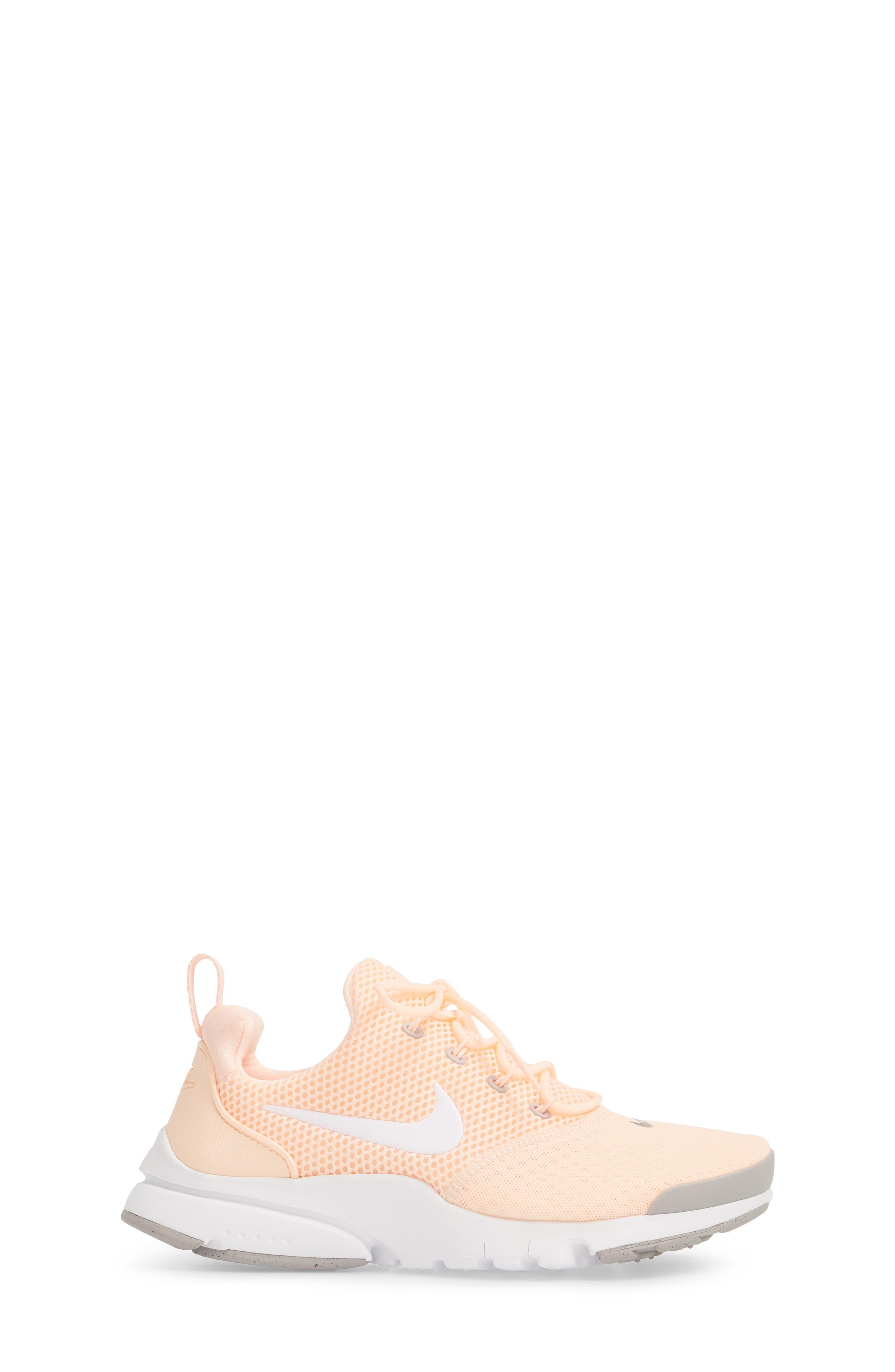 Presto Fly Sneaker,                             Alternate thumbnail 4, color,                             Crimson Tint/ White/ Grey