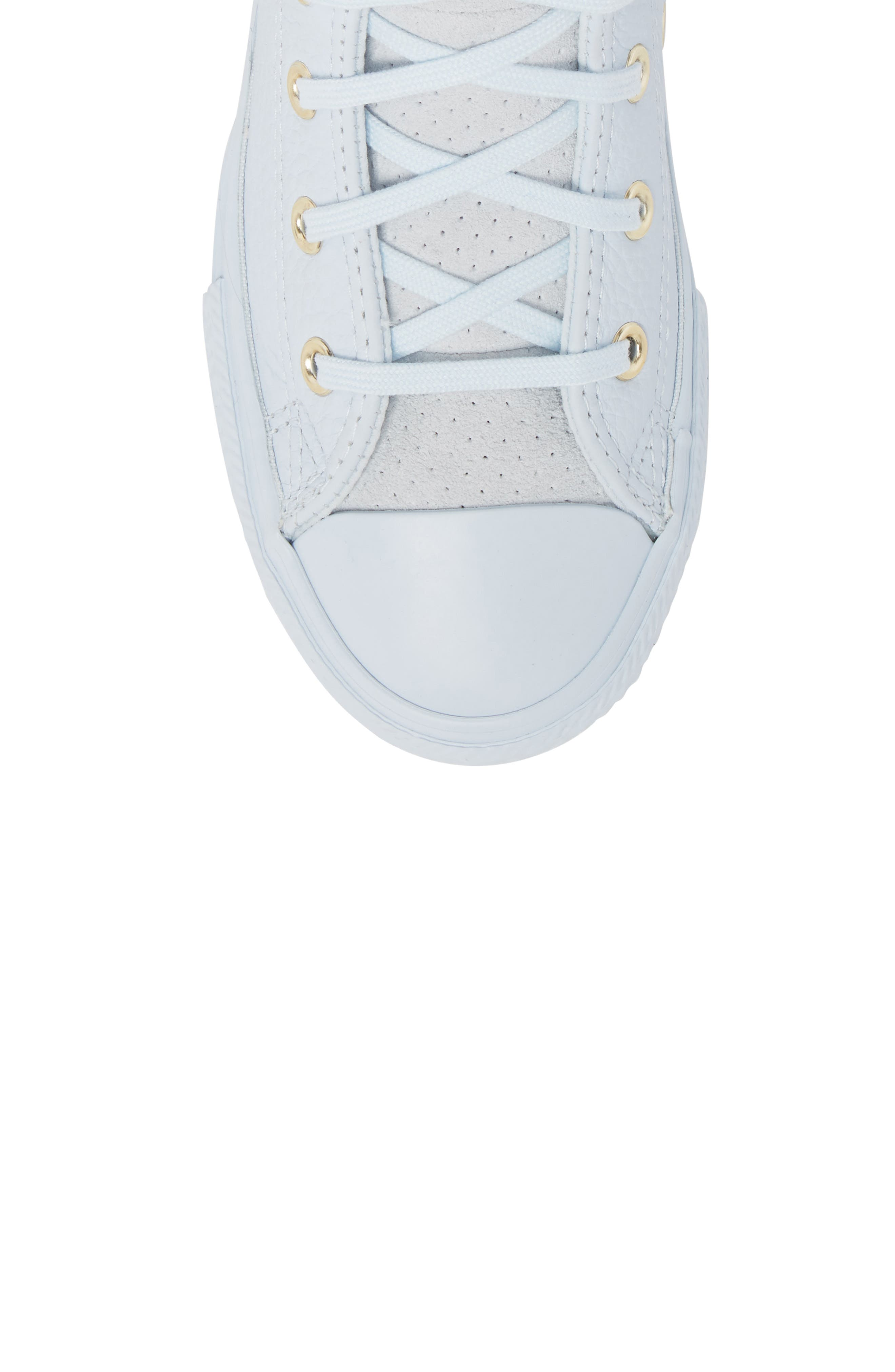 Chuck Taylor<sup>®</sup> All Star<sup>®</sup> Mono High Top Sneaker,                             Alternate thumbnail 5, color,                             Blue Tint