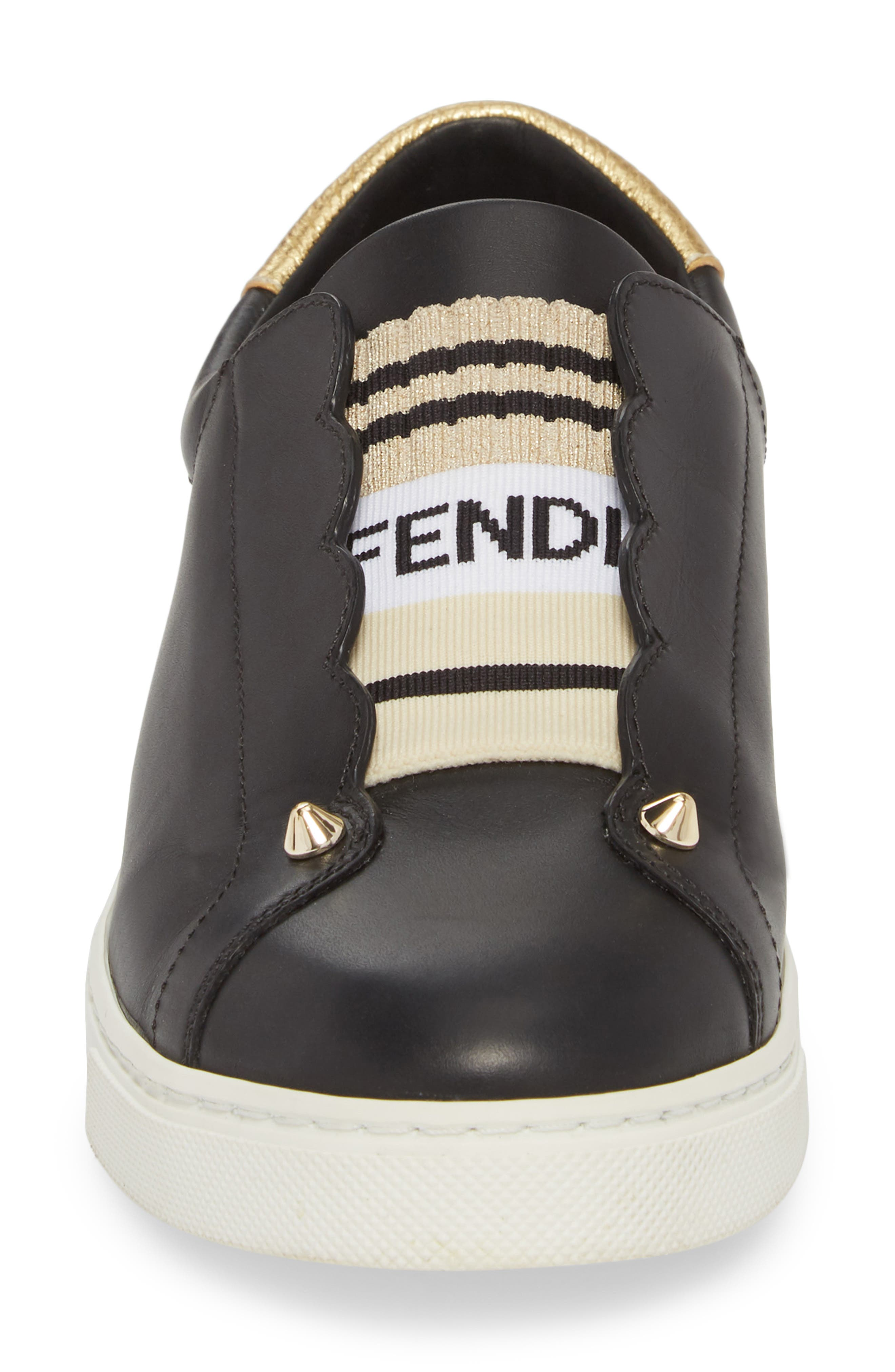 Rockono Slip-On Sneaker,                             Alternate thumbnail 4, color,                             Black