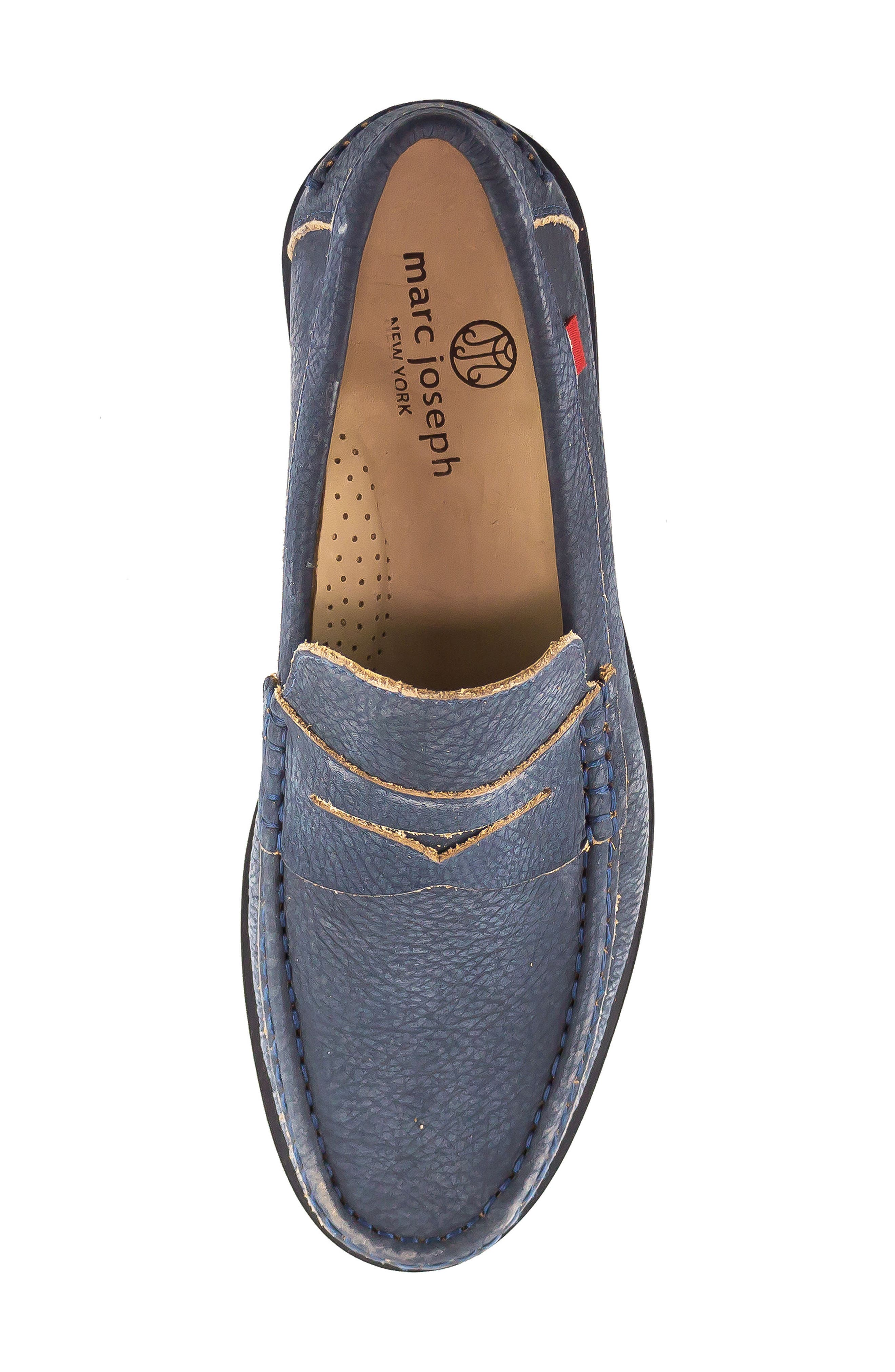 Cortland Penny Loafer,                             Alternate thumbnail 4, color,                             Navy