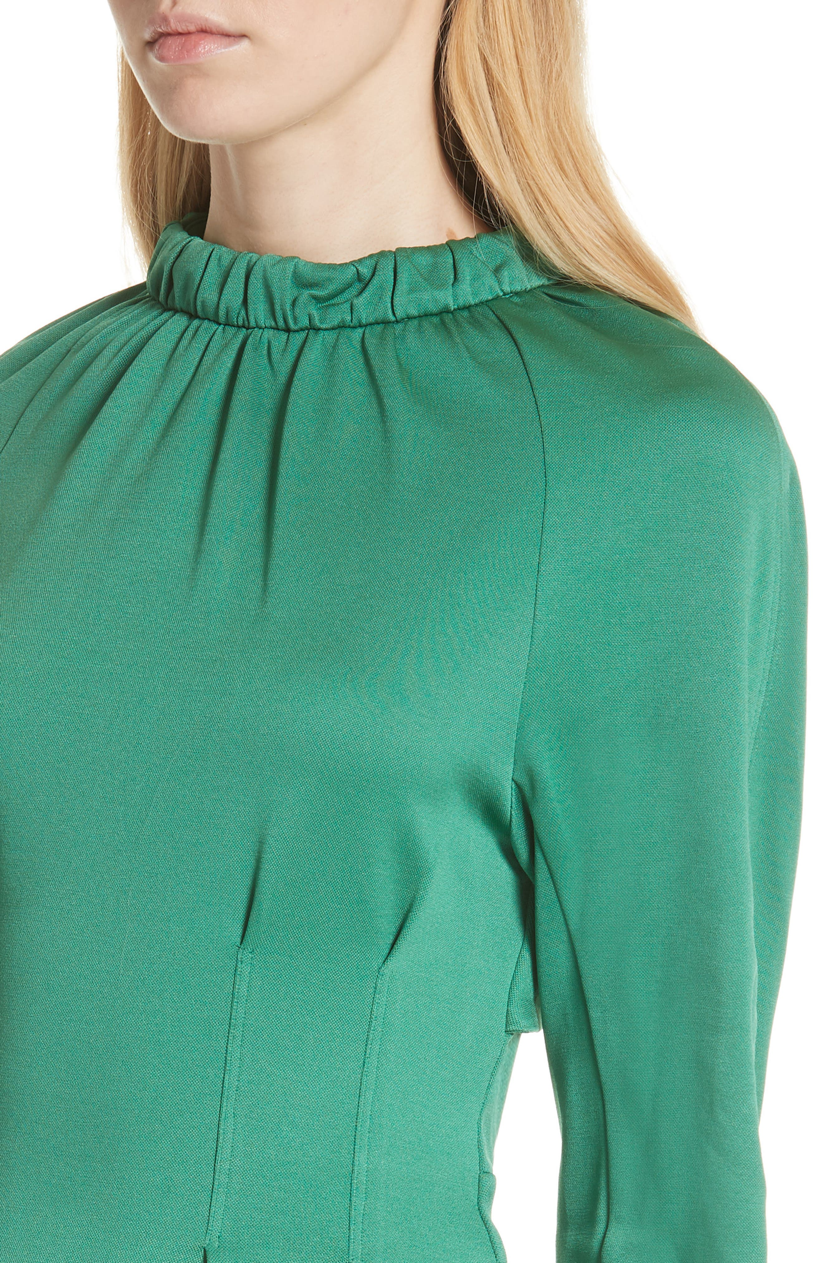 Astor Knit Sheath Dress,                             Alternate thumbnail 4, color,                             Green