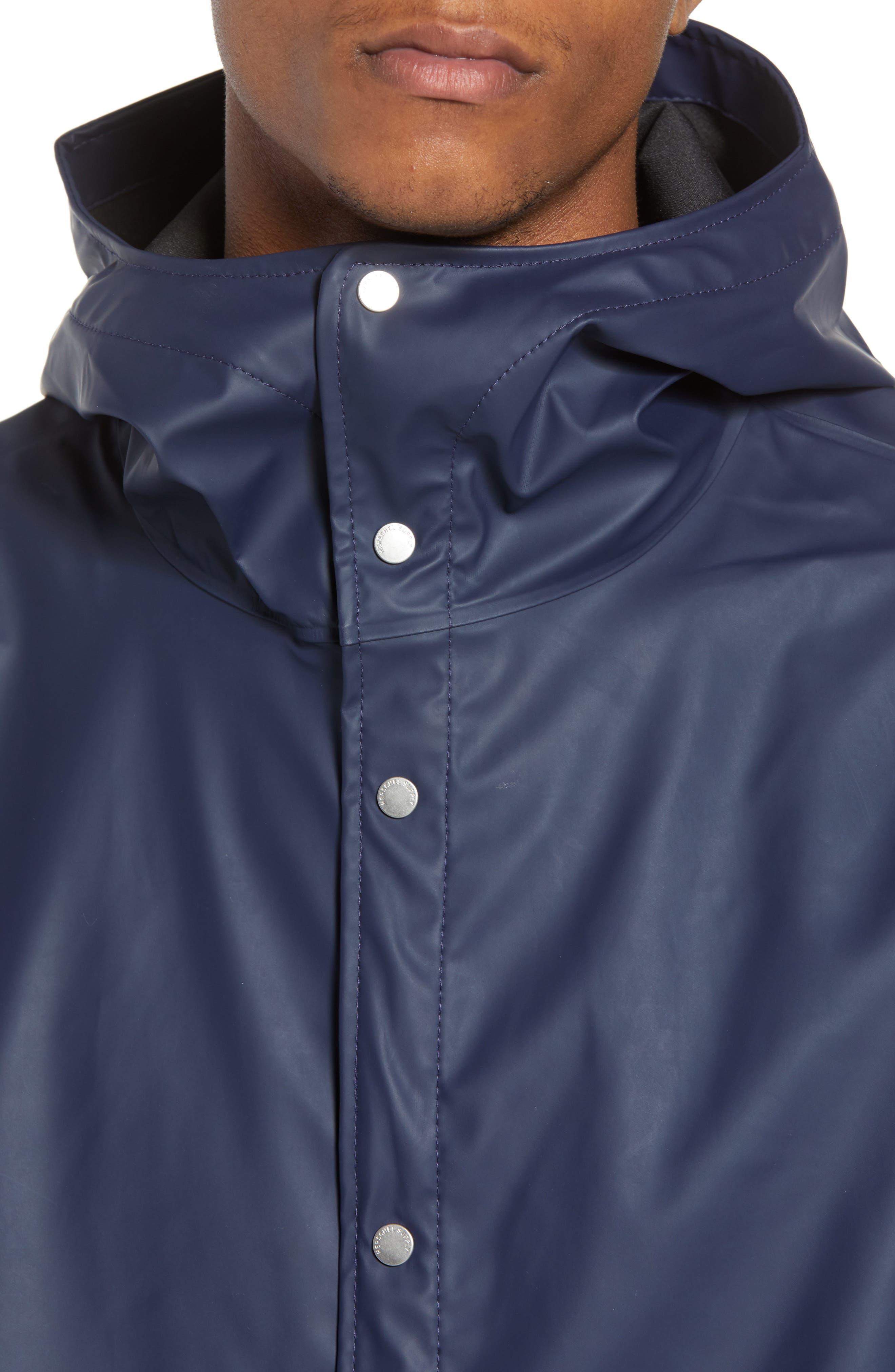 Forecast Hooded Coaches Jacket,                             Alternate thumbnail 4, color,                             Peacoat/ Peacoat
