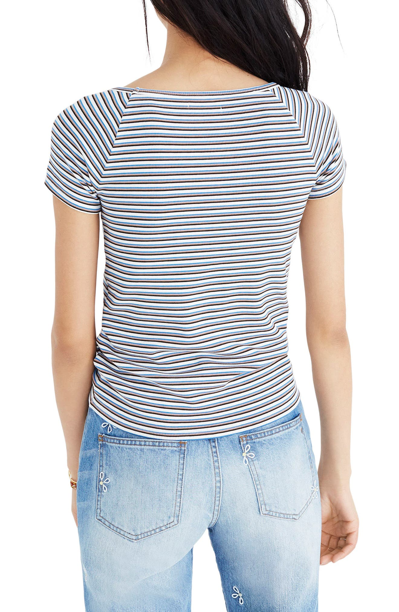 Canal Stripe Top,                             Alternate thumbnail 2, color,                             Villa Blue